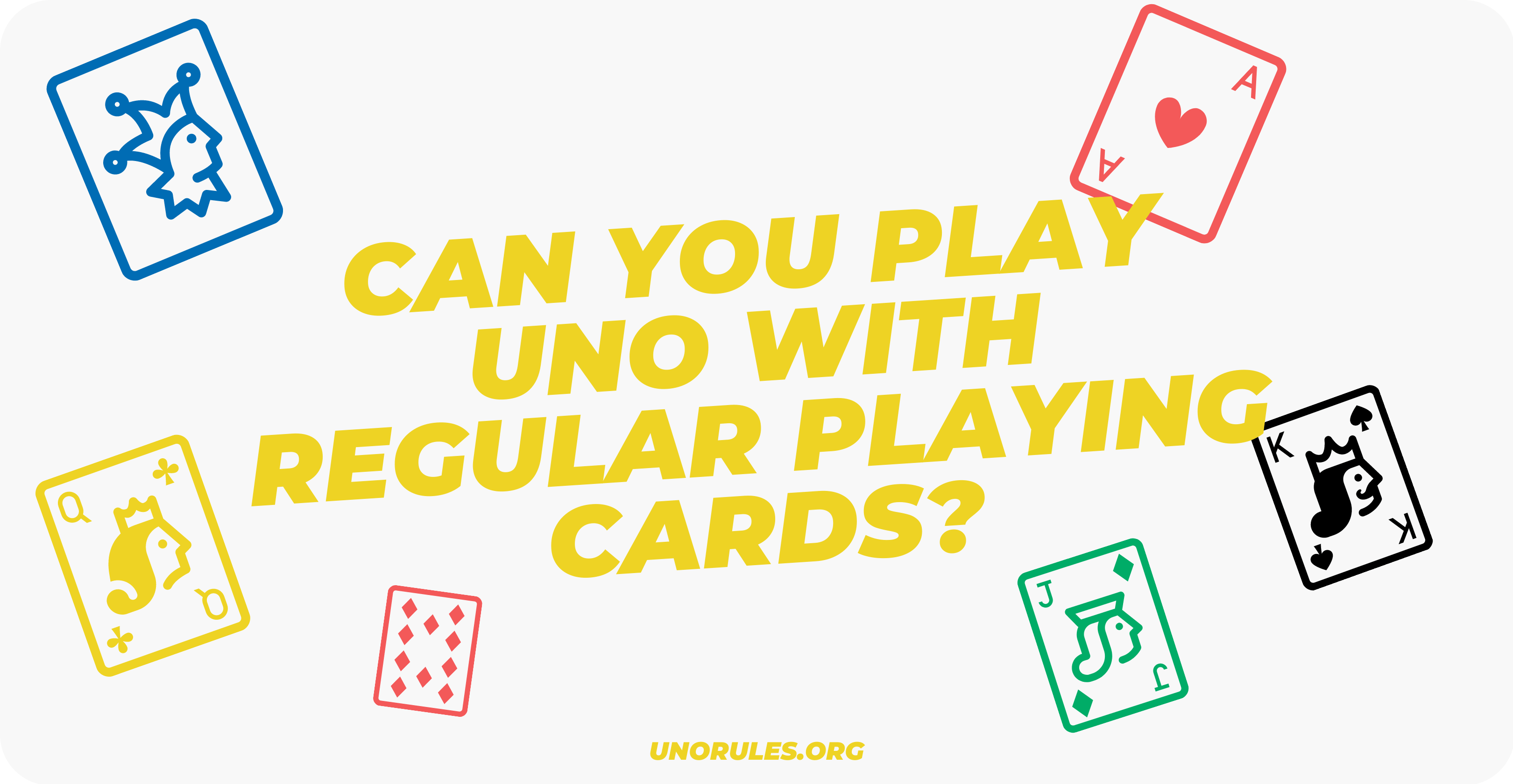 Can you play Uno with regular playing cards