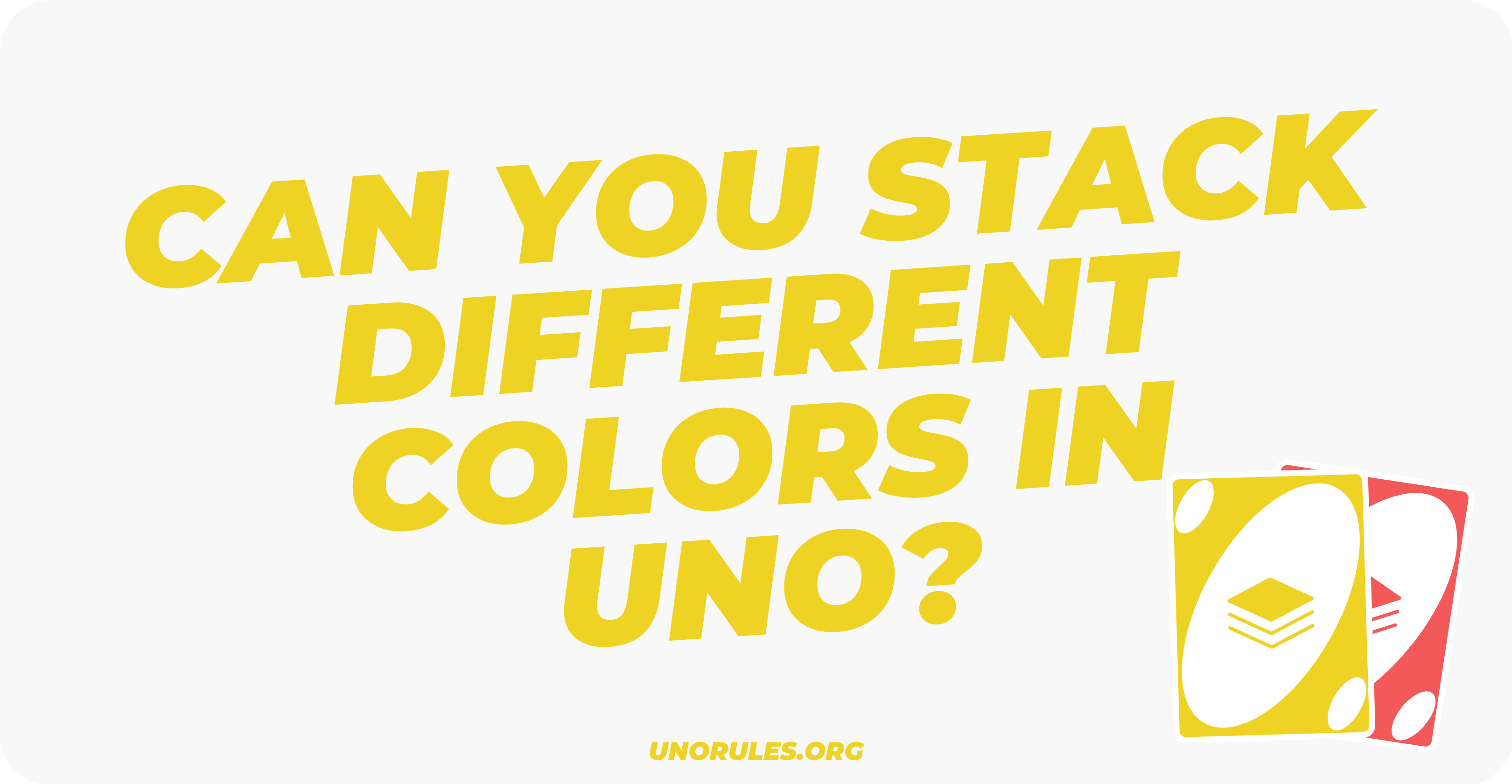 Can you stack different colors in Uno
