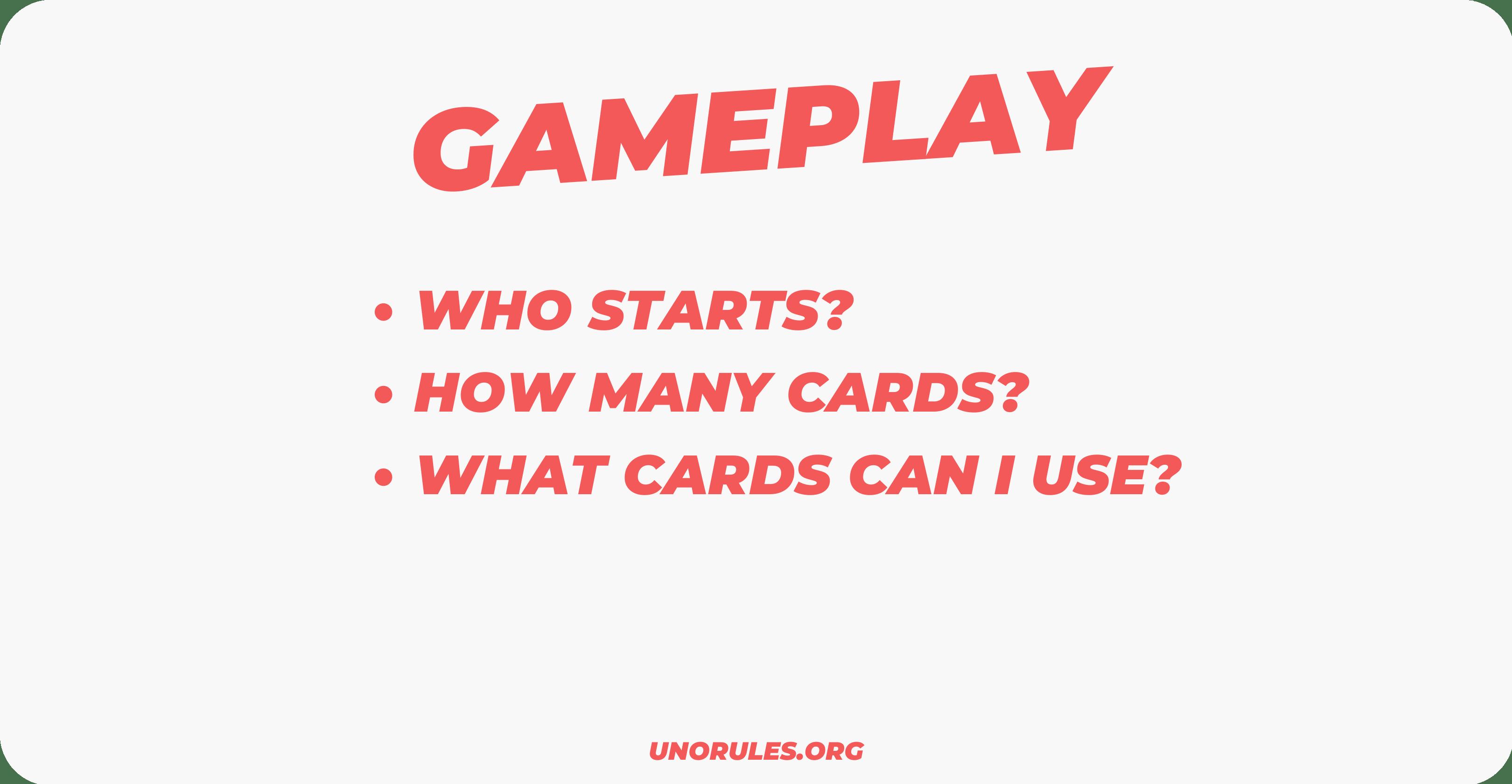How to start Uno - Gameplay