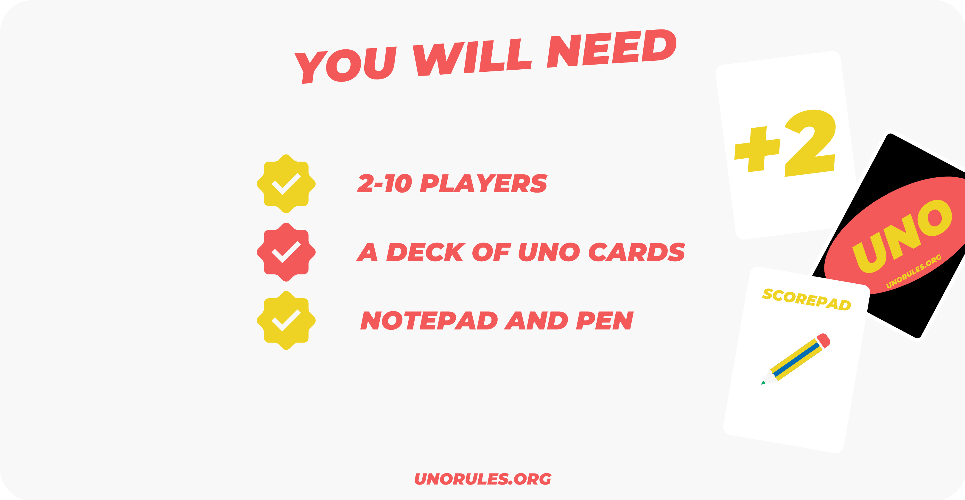 Playing Uno - What do you need