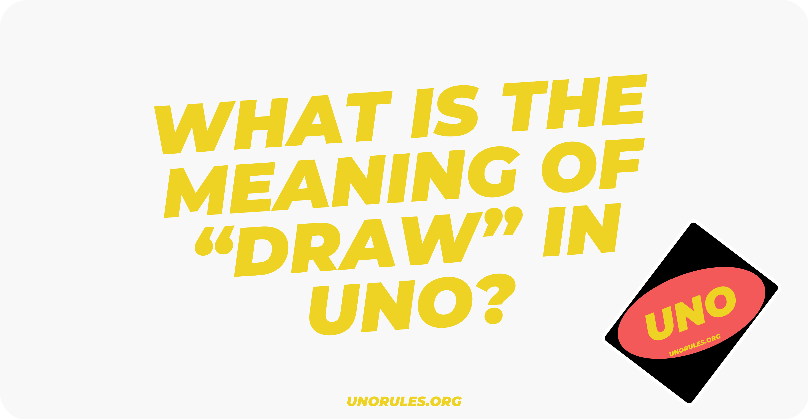What is the meaning of draw