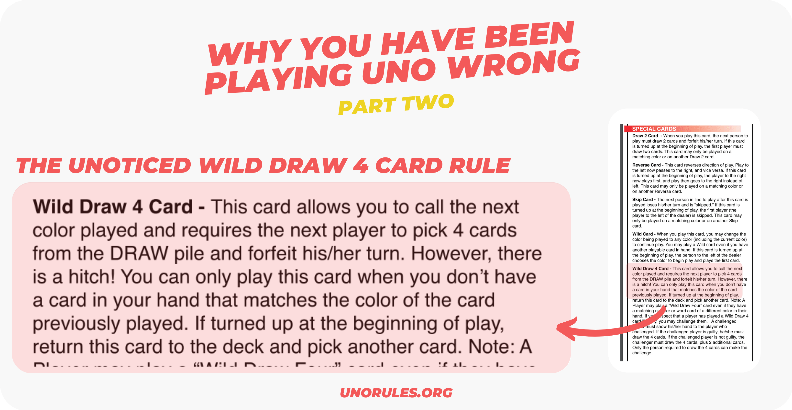 Why you have been playing Uno wrong - Wild Draw 4 card rule