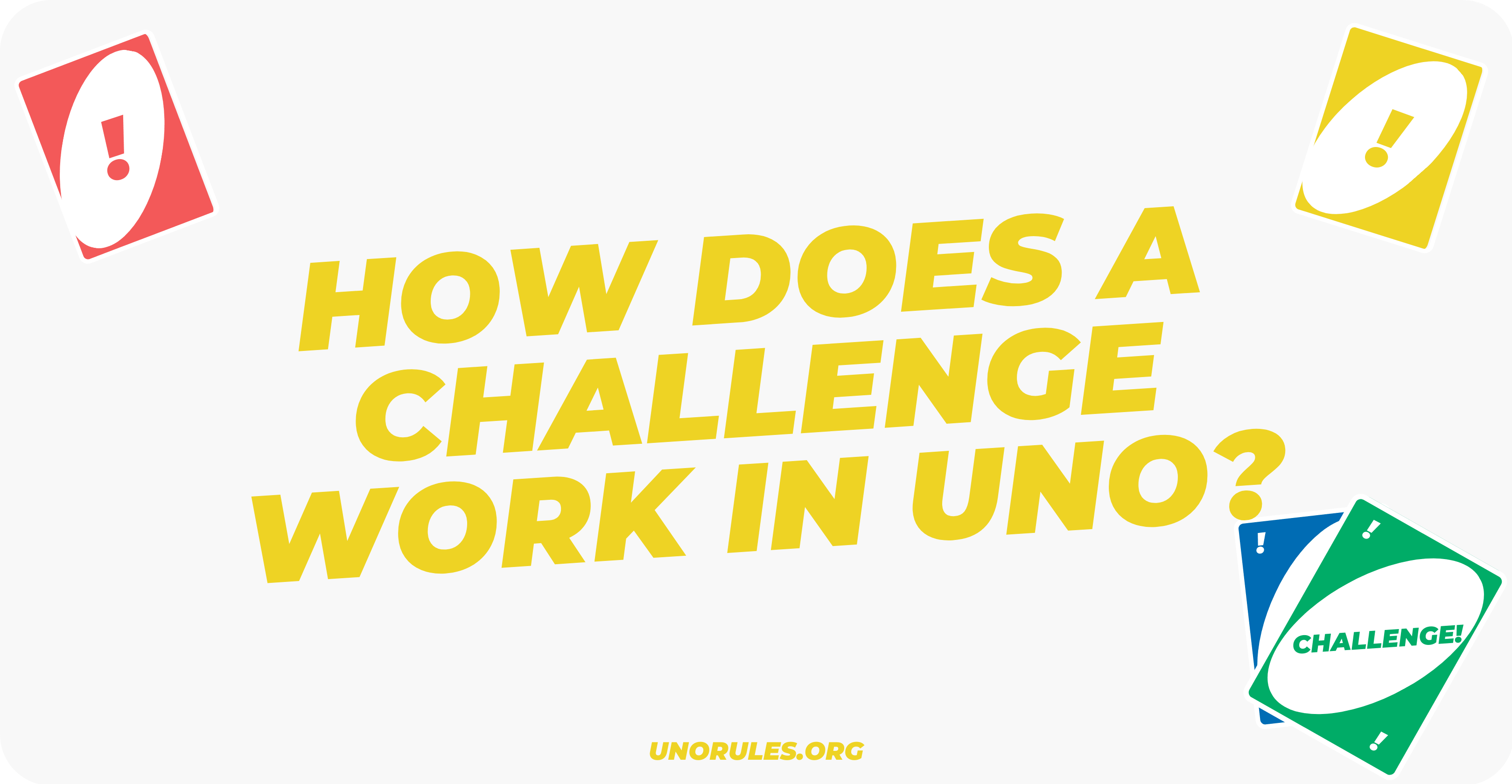 How does challenge work in Uno?