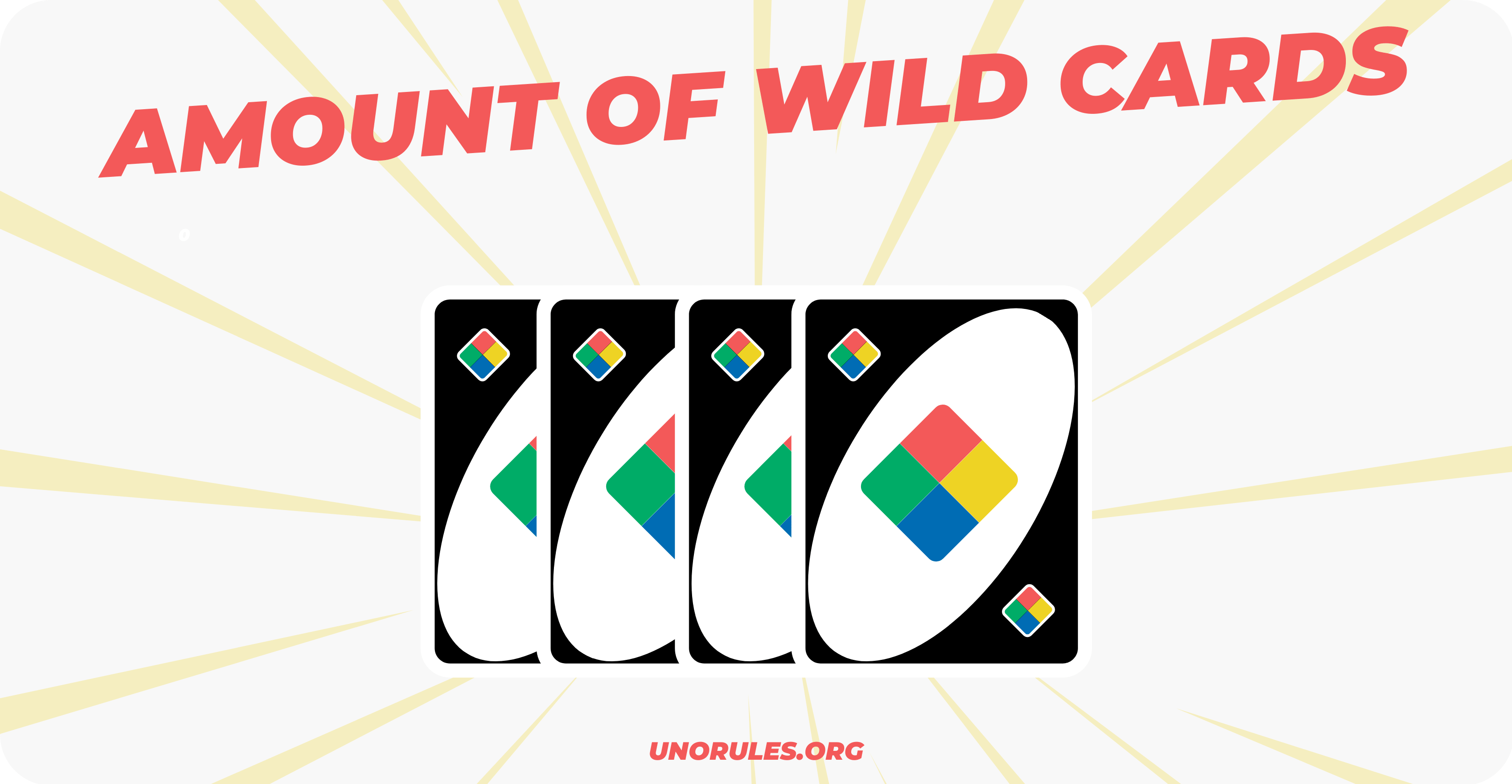 How many wild cards in uno