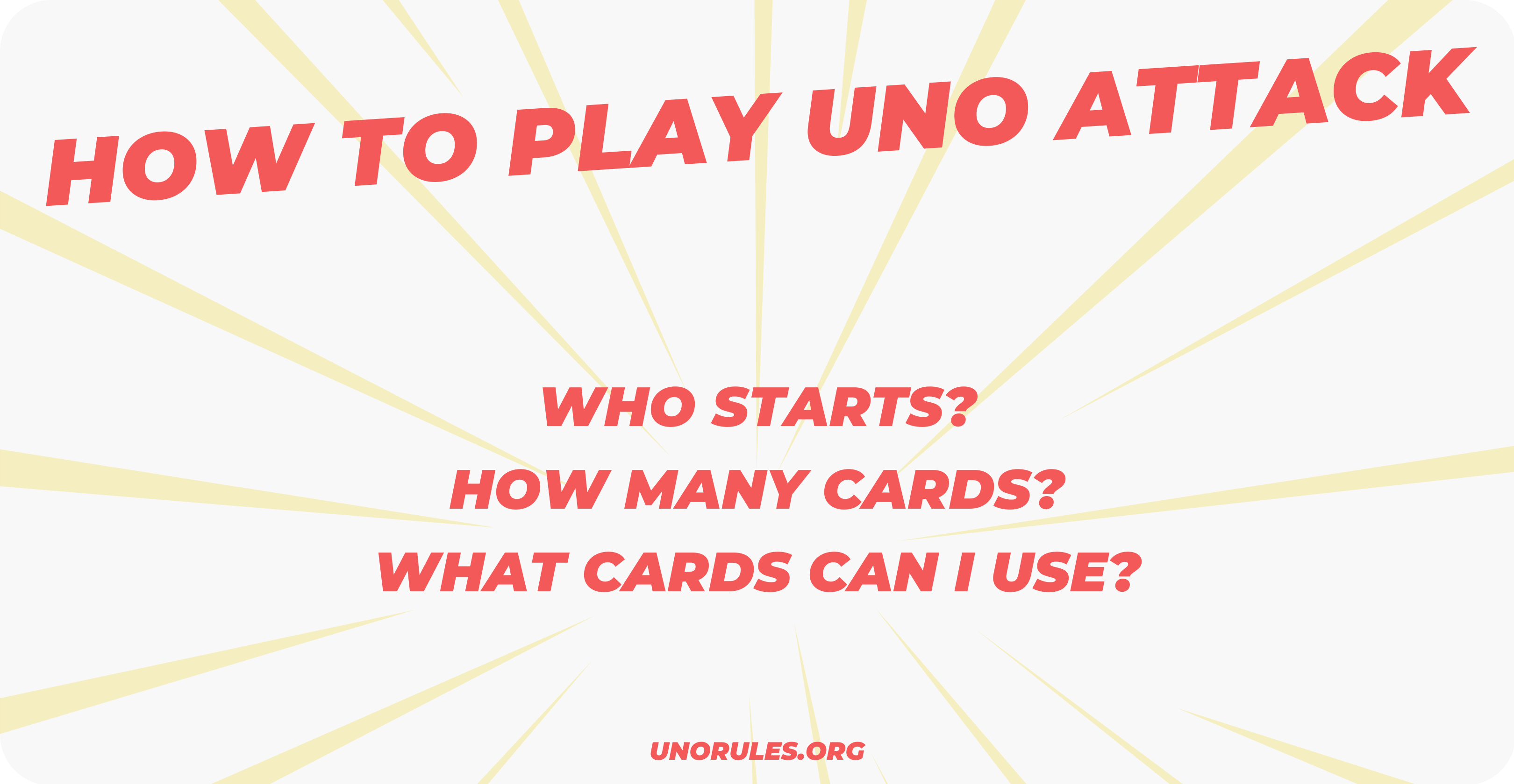 How to play uno attack