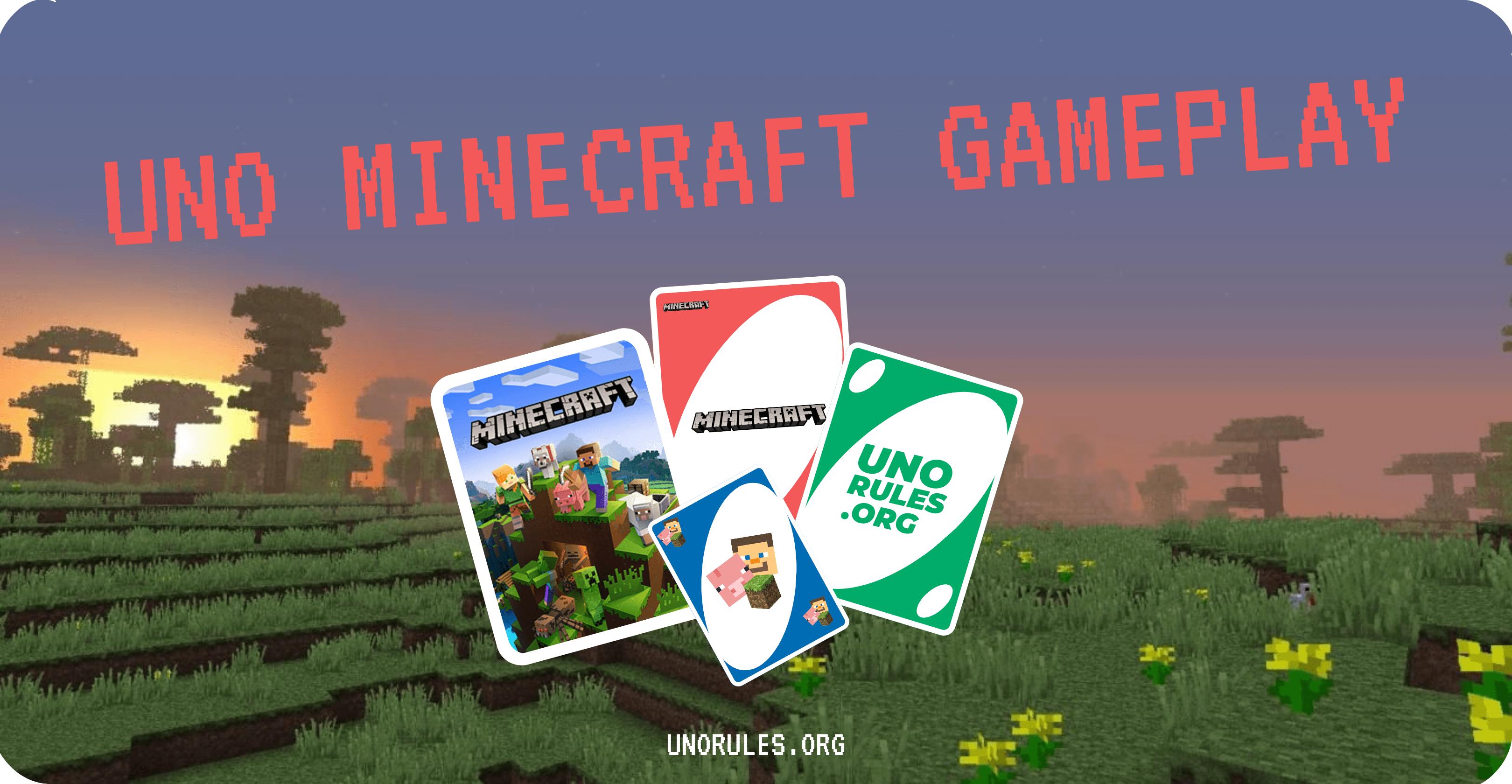Minecraft Uno gameplay