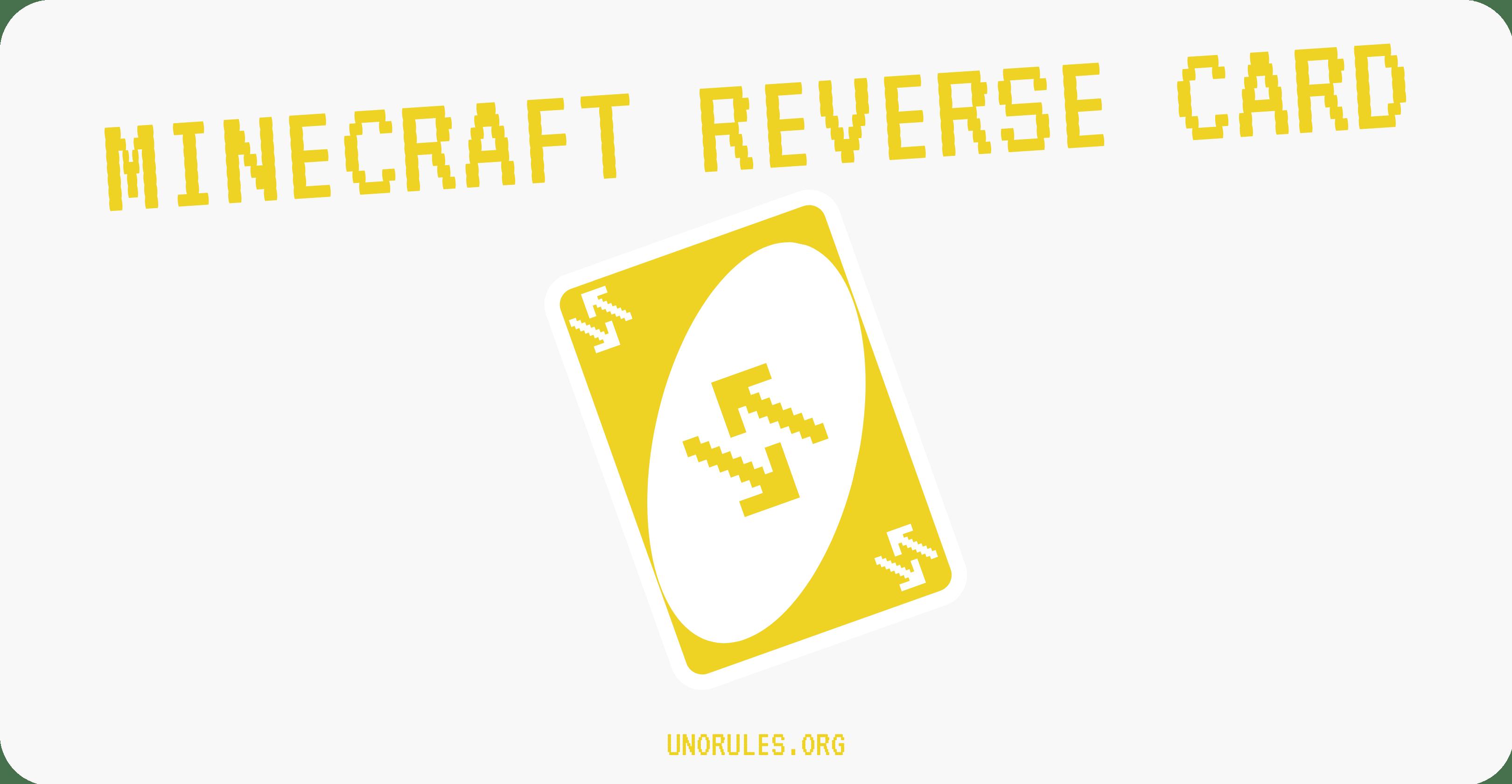Minecraft Uno reverse card