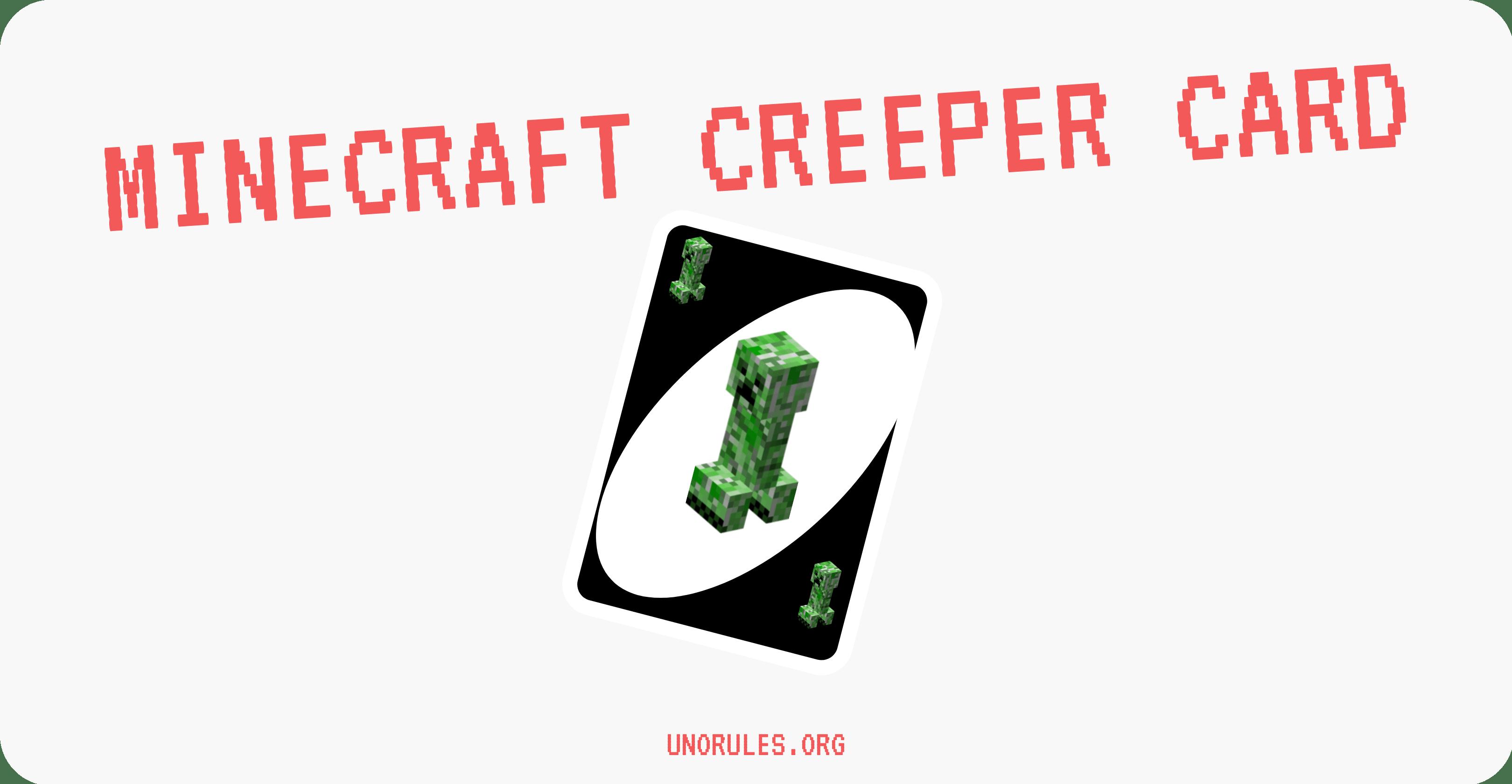 Minecraft creeper Uno card