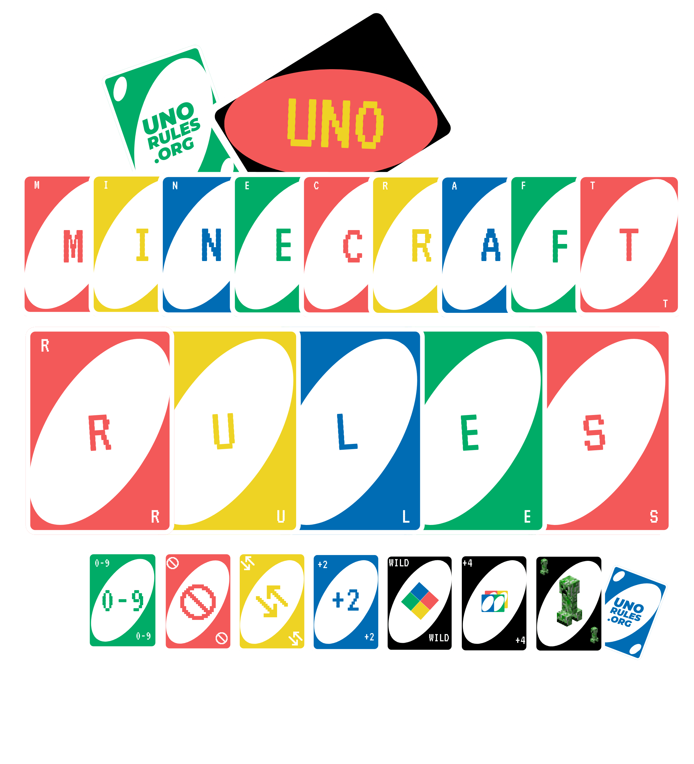 Minecraft uno rules and cards- Unorules.org