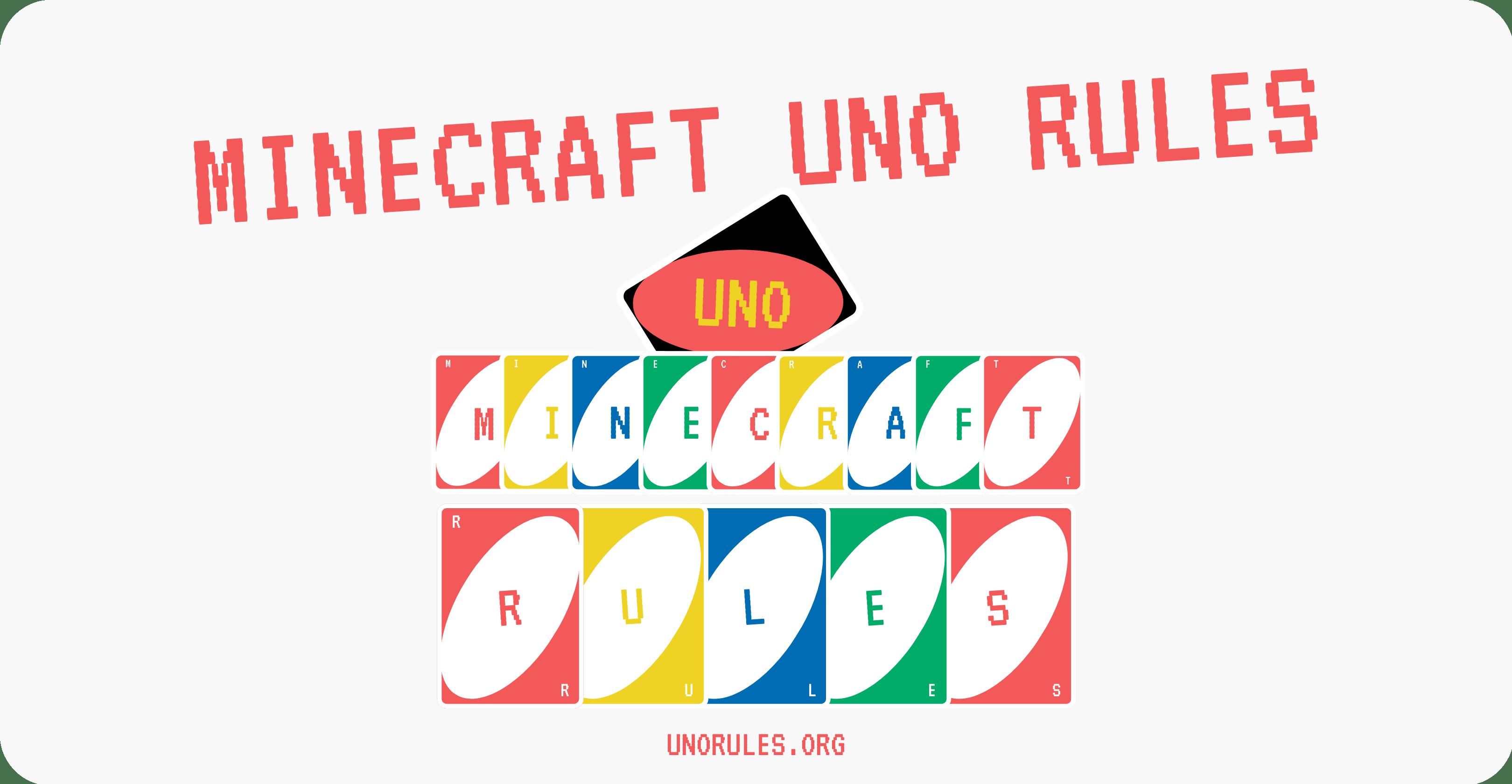 Minecraft uno rules