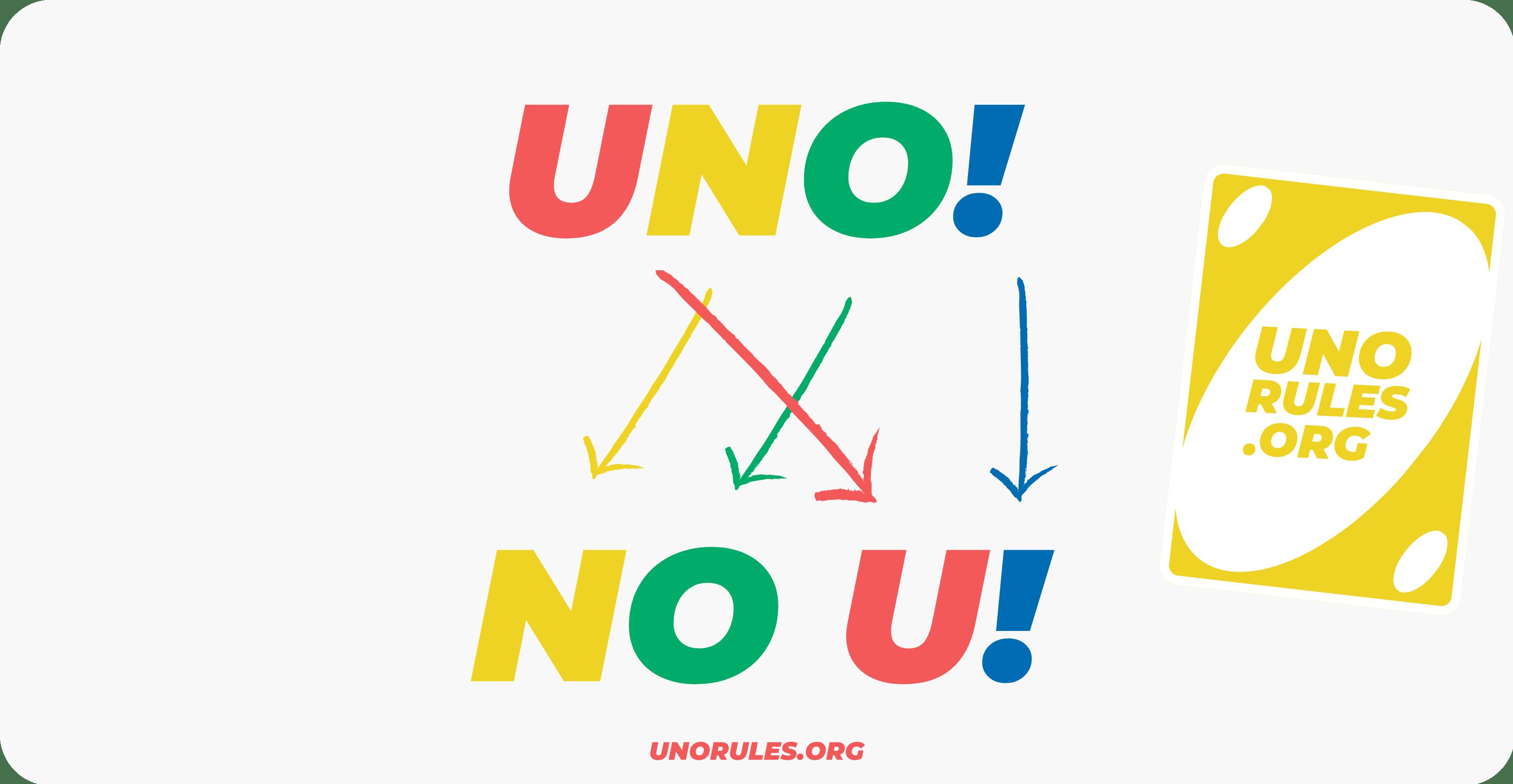 Reverse uno card - No U