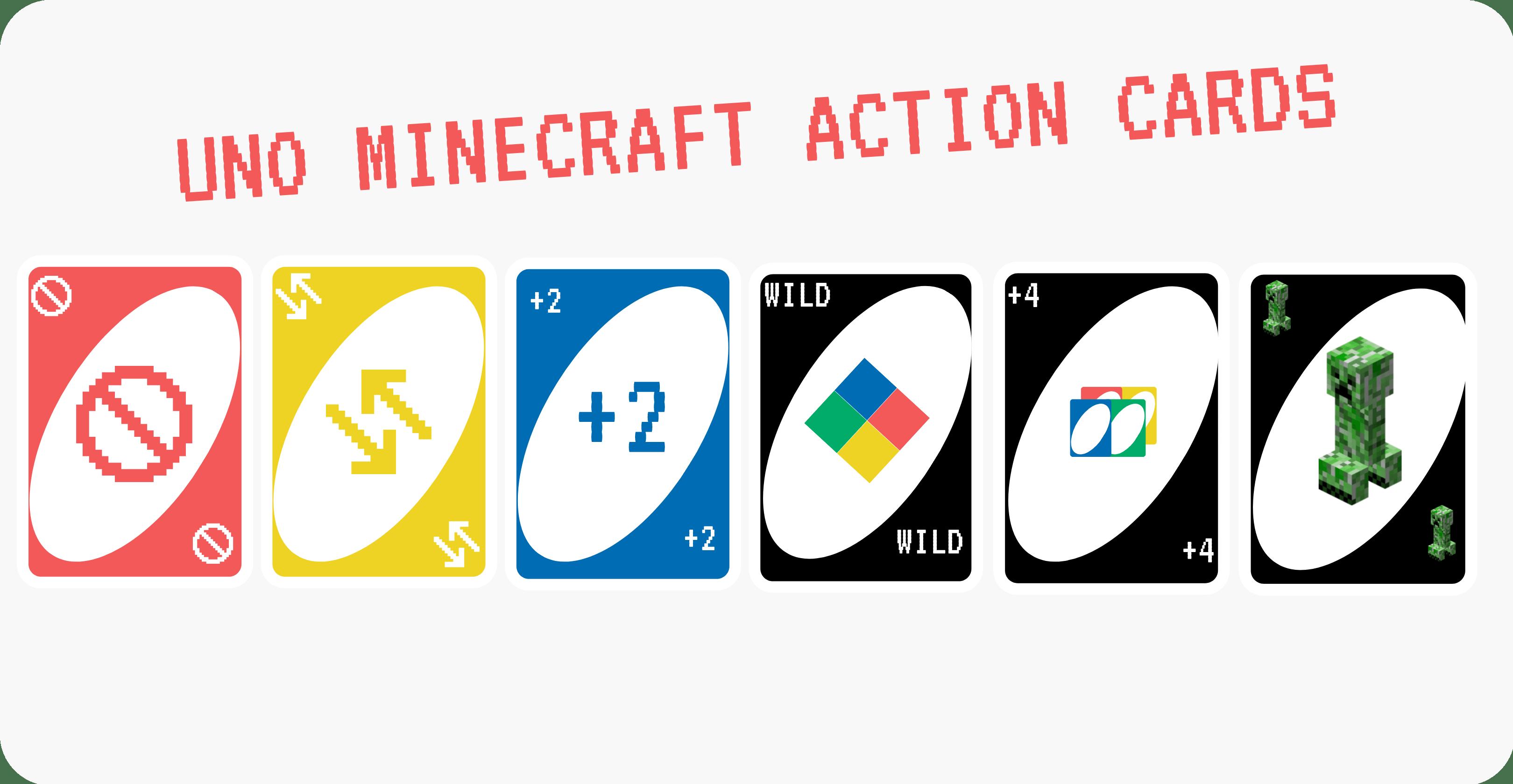 Uno Minecraft Action cards