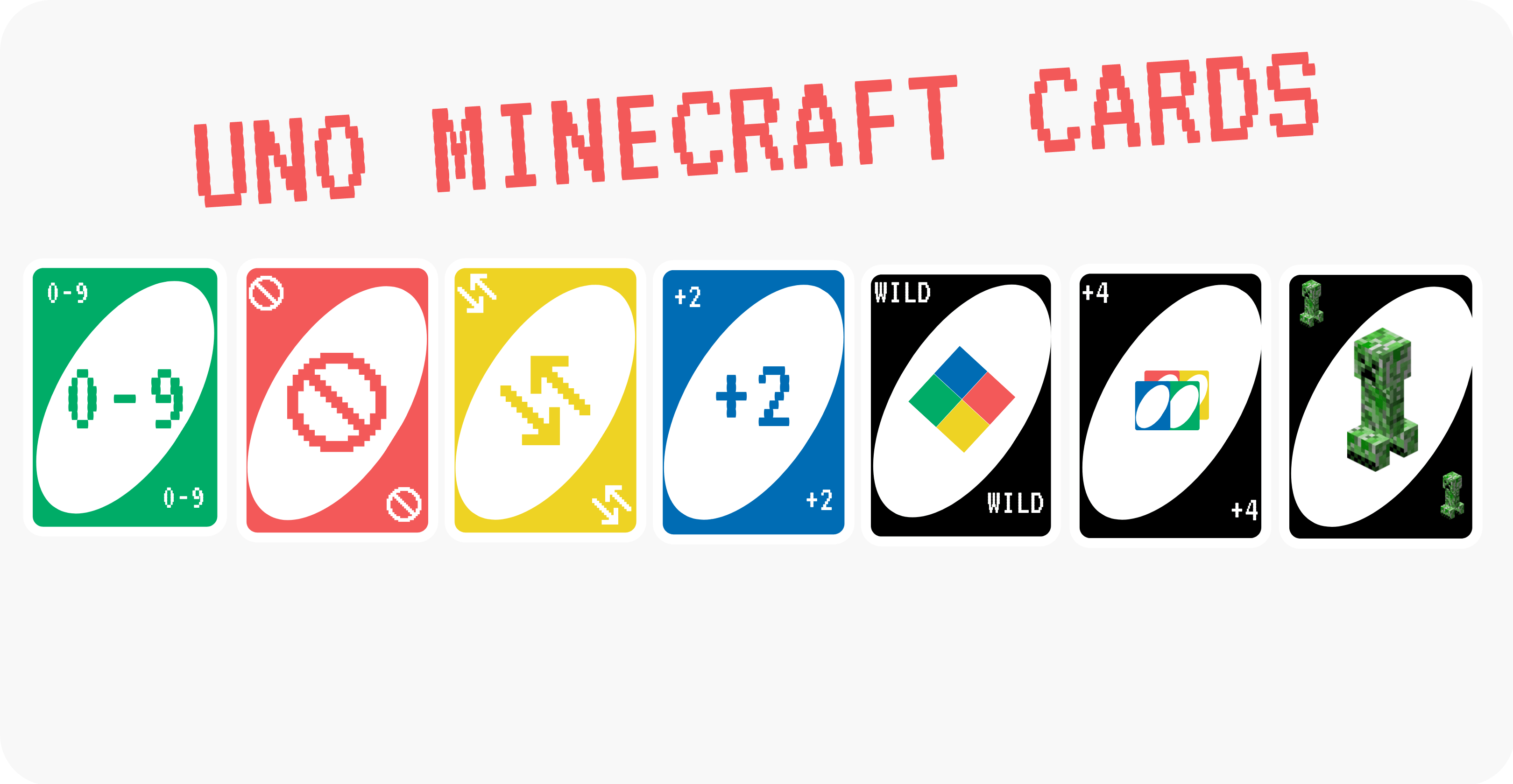 Uno Minecraft cards