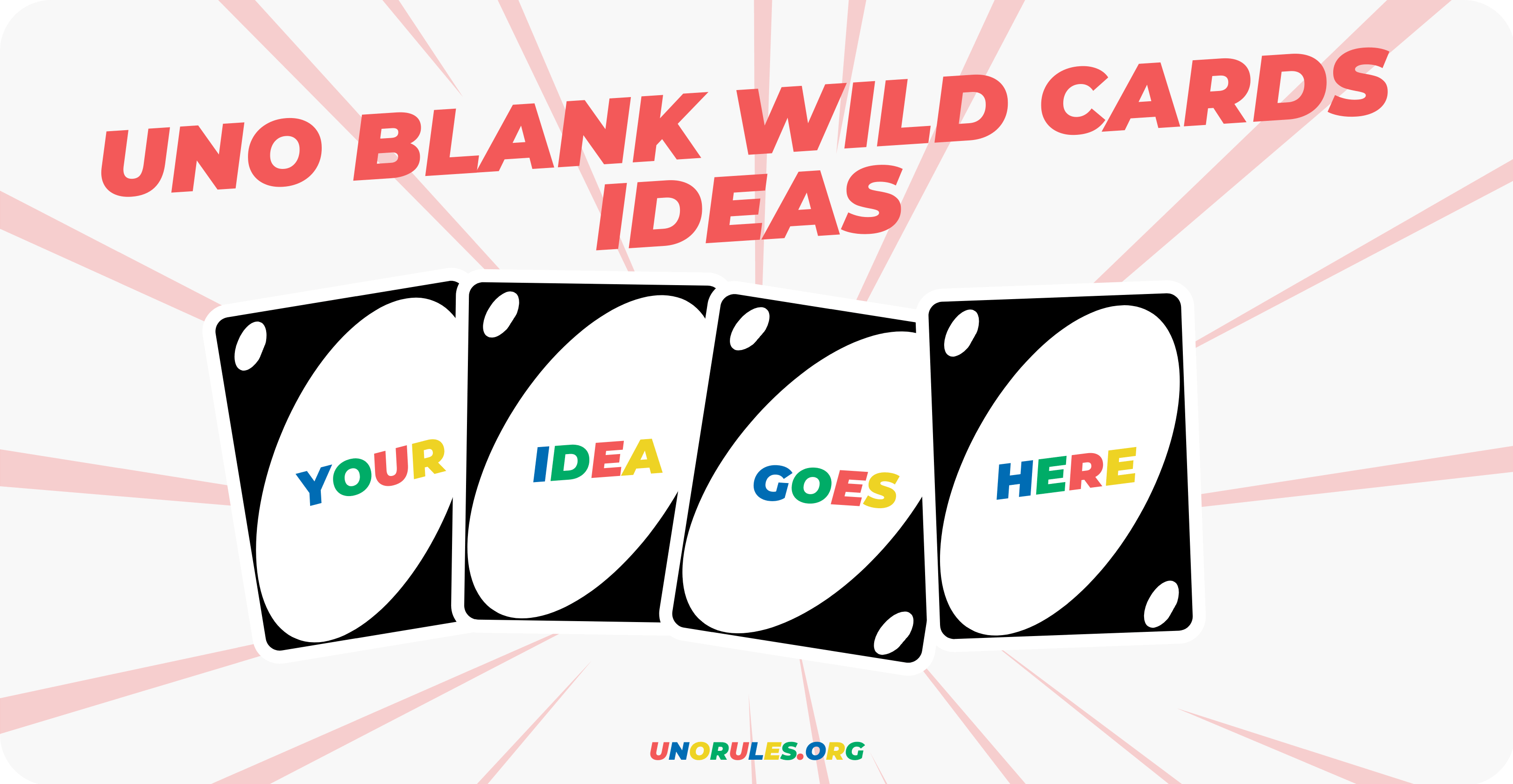 Uno customisable wild card ideas