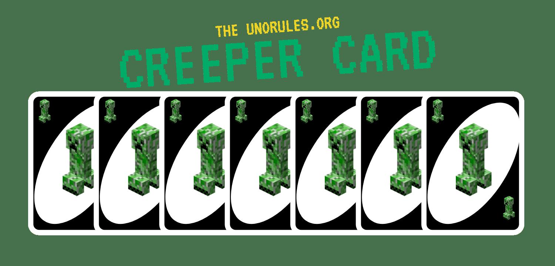 Uno minecraft creeper cards icon - unorules.org