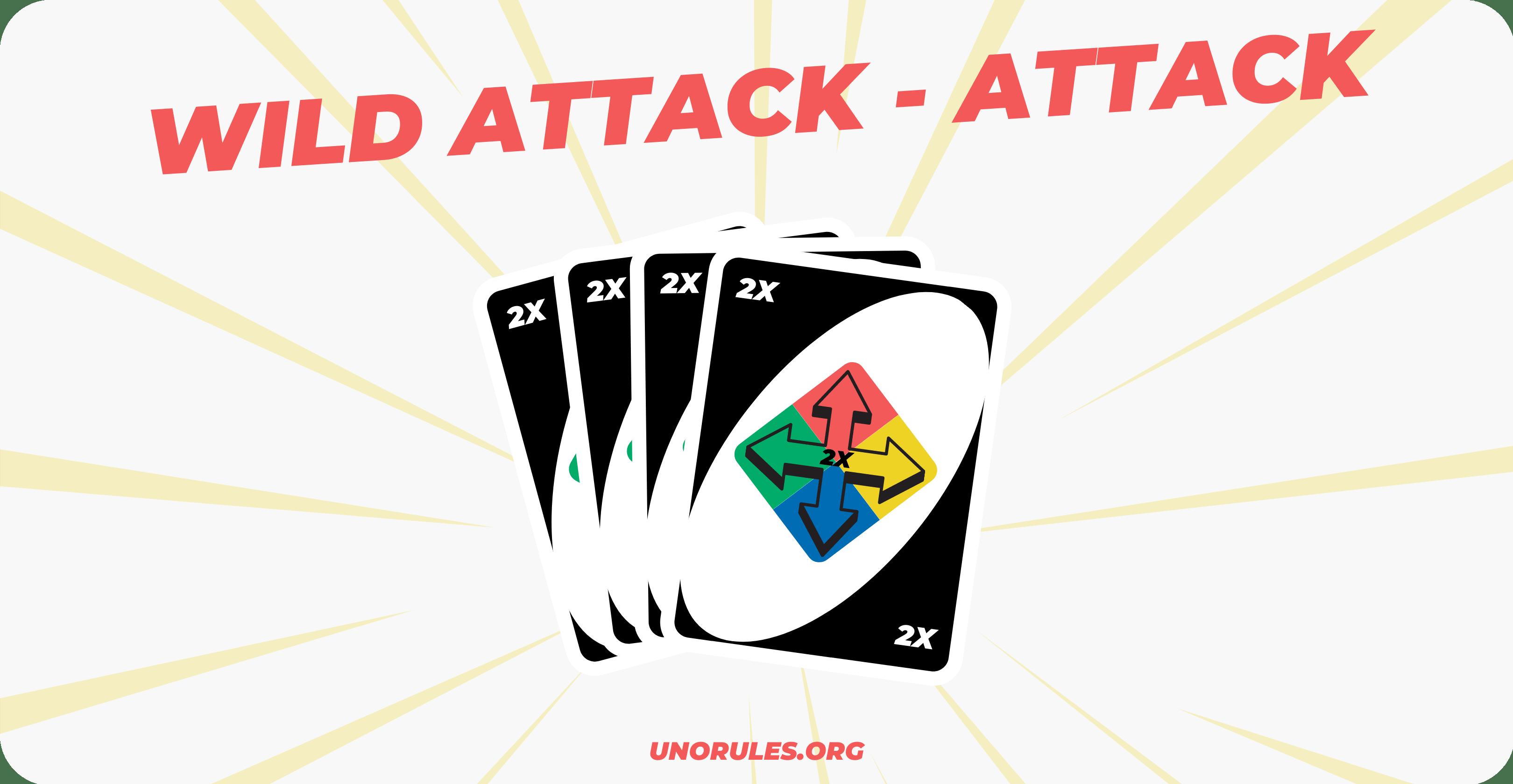 Wild Attack Attack Uno card