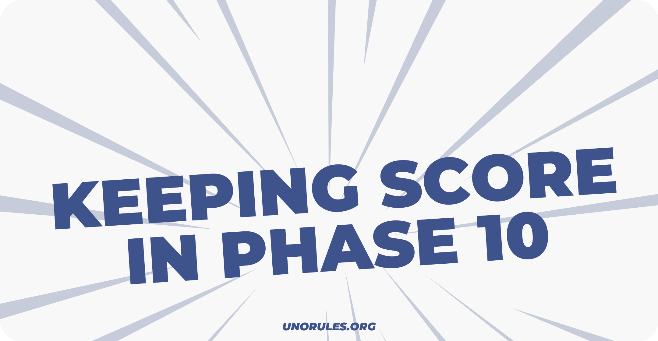 Different ways to keep score in Phase 10
