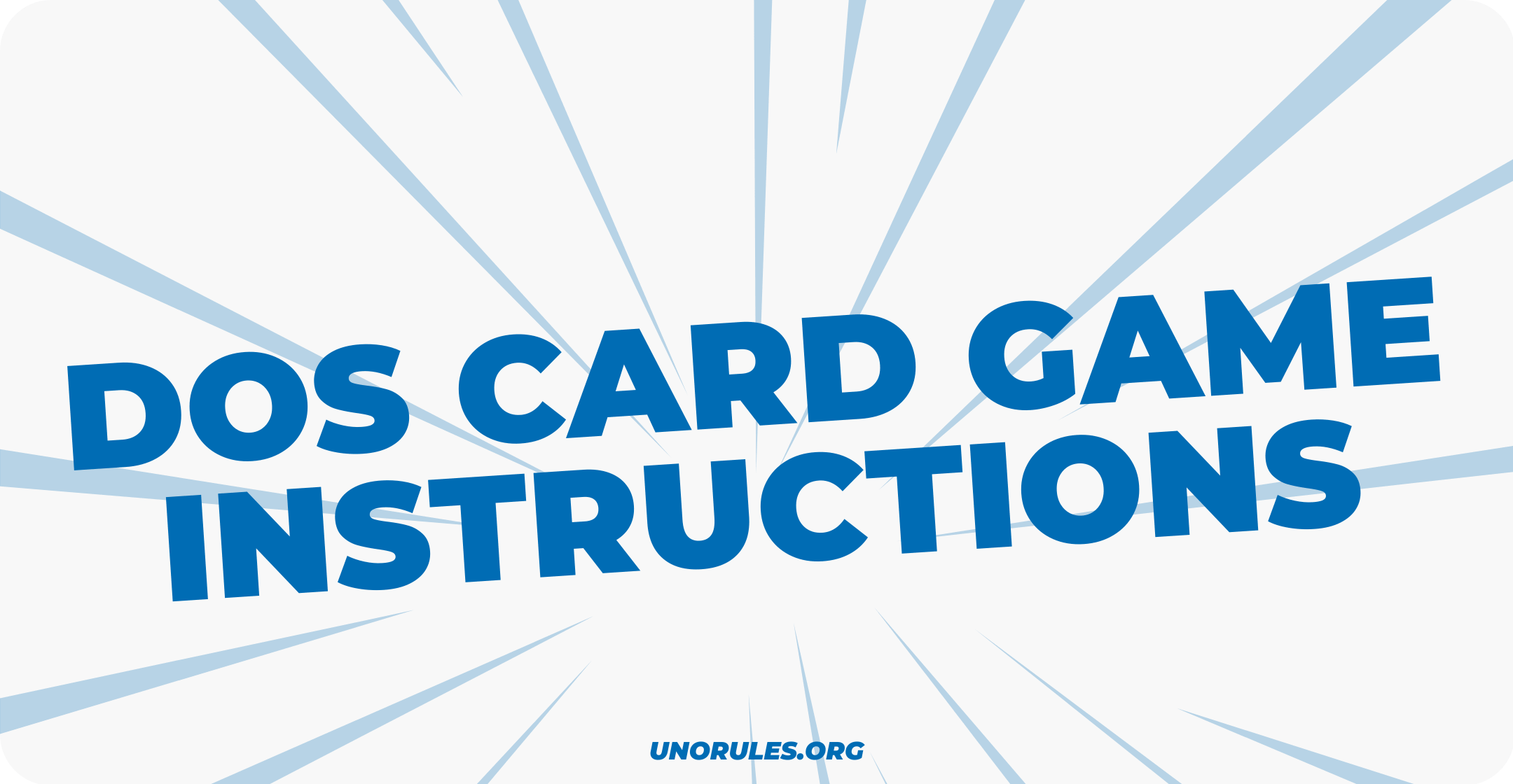 Dos card game instructions