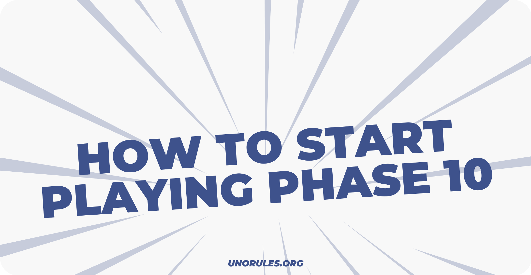 How to start playing Phase 10
