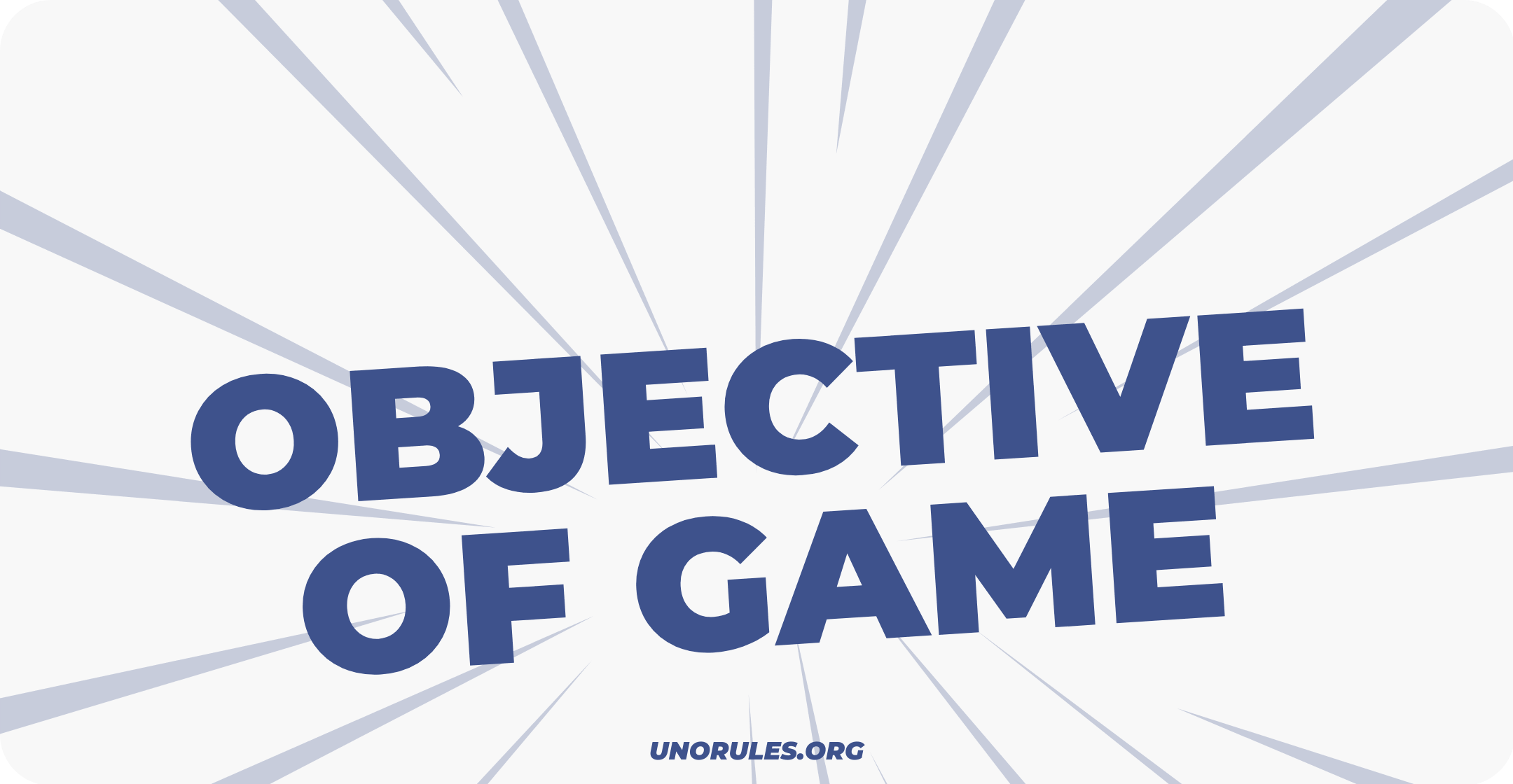 Objective of game