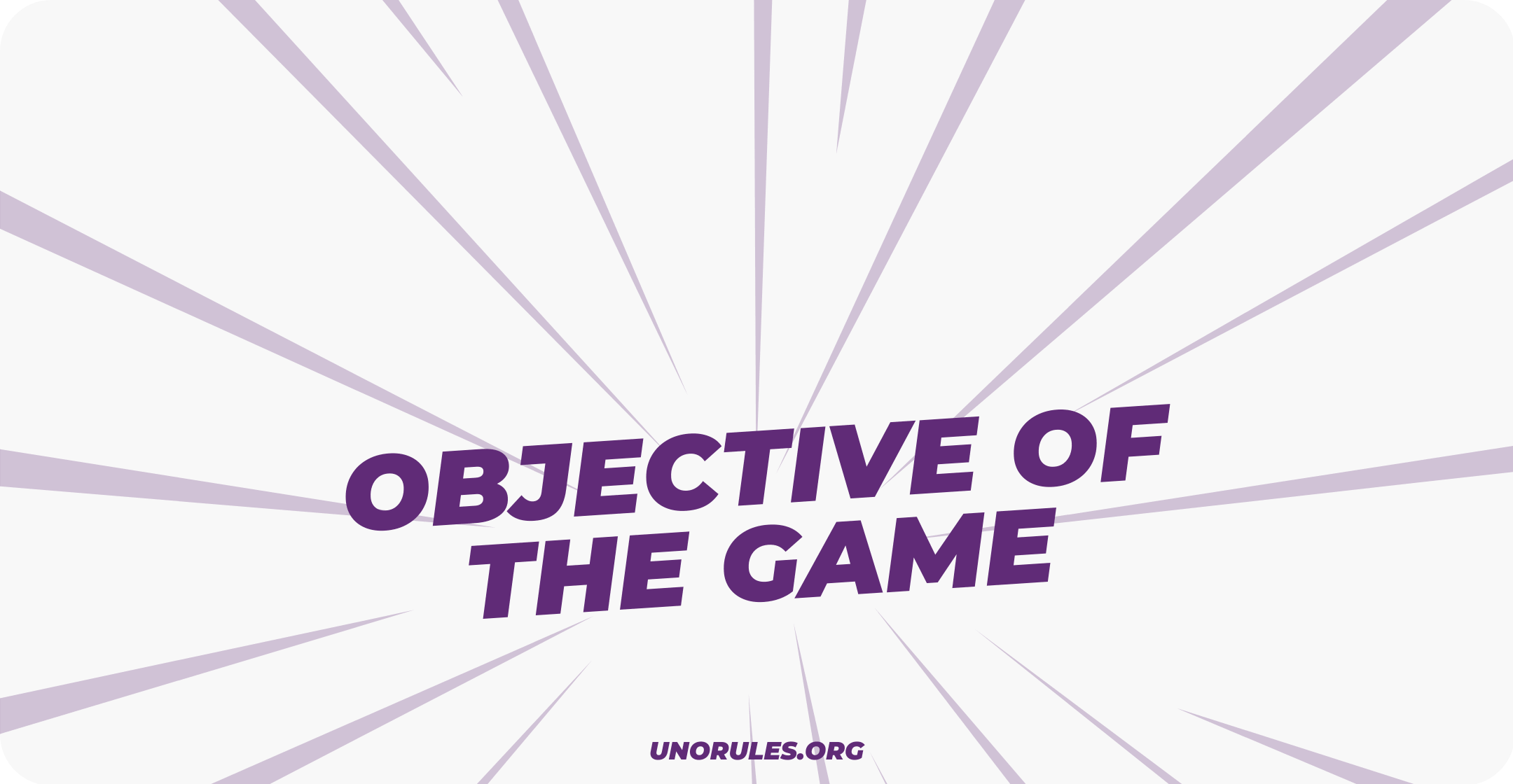 Objective of the game