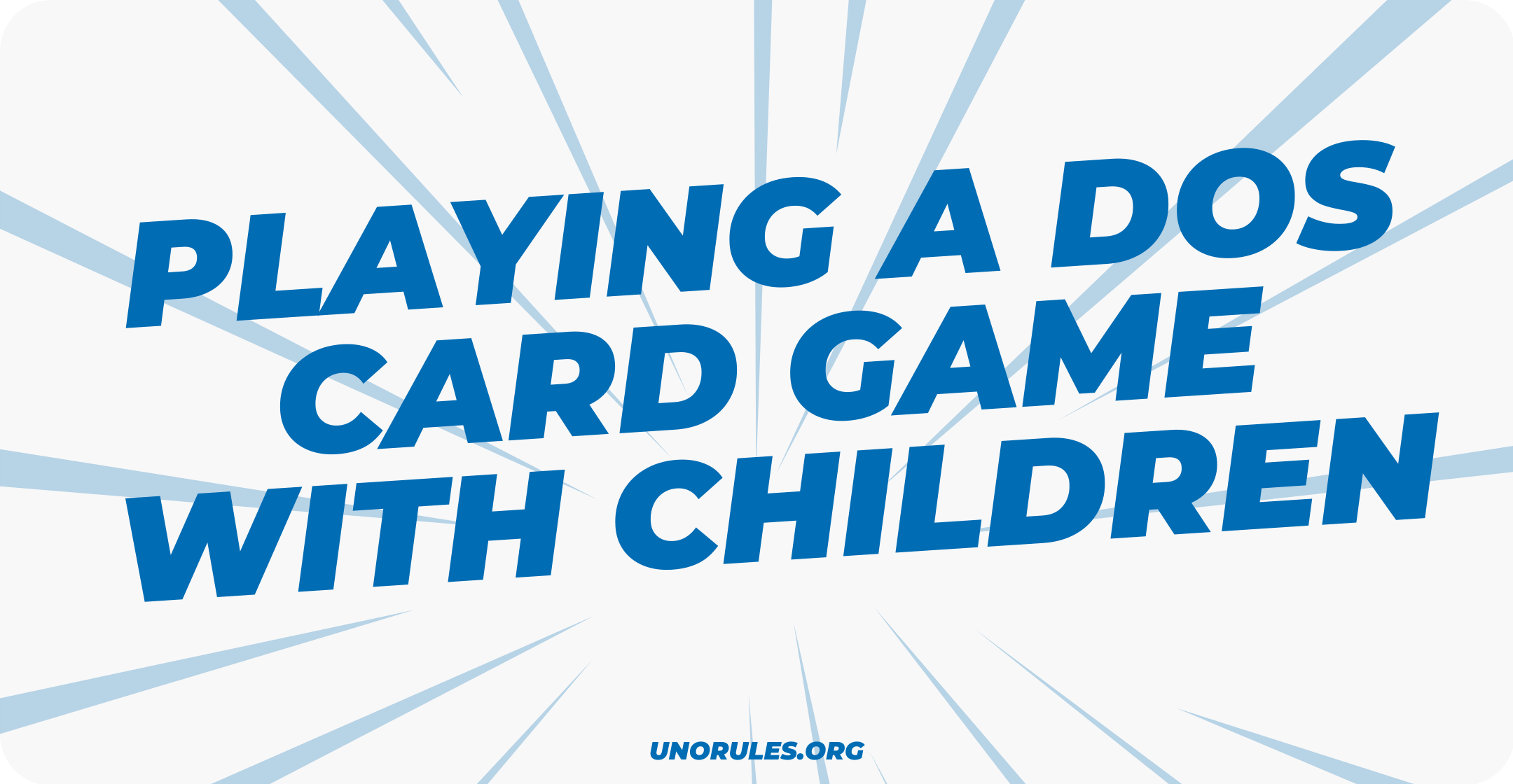 Playing a Dos card game with children