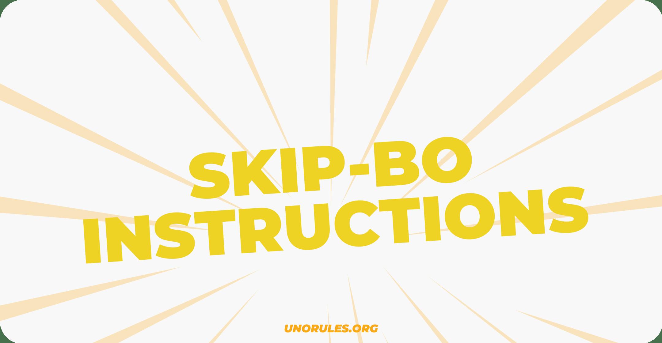 Skip-Bo instructions