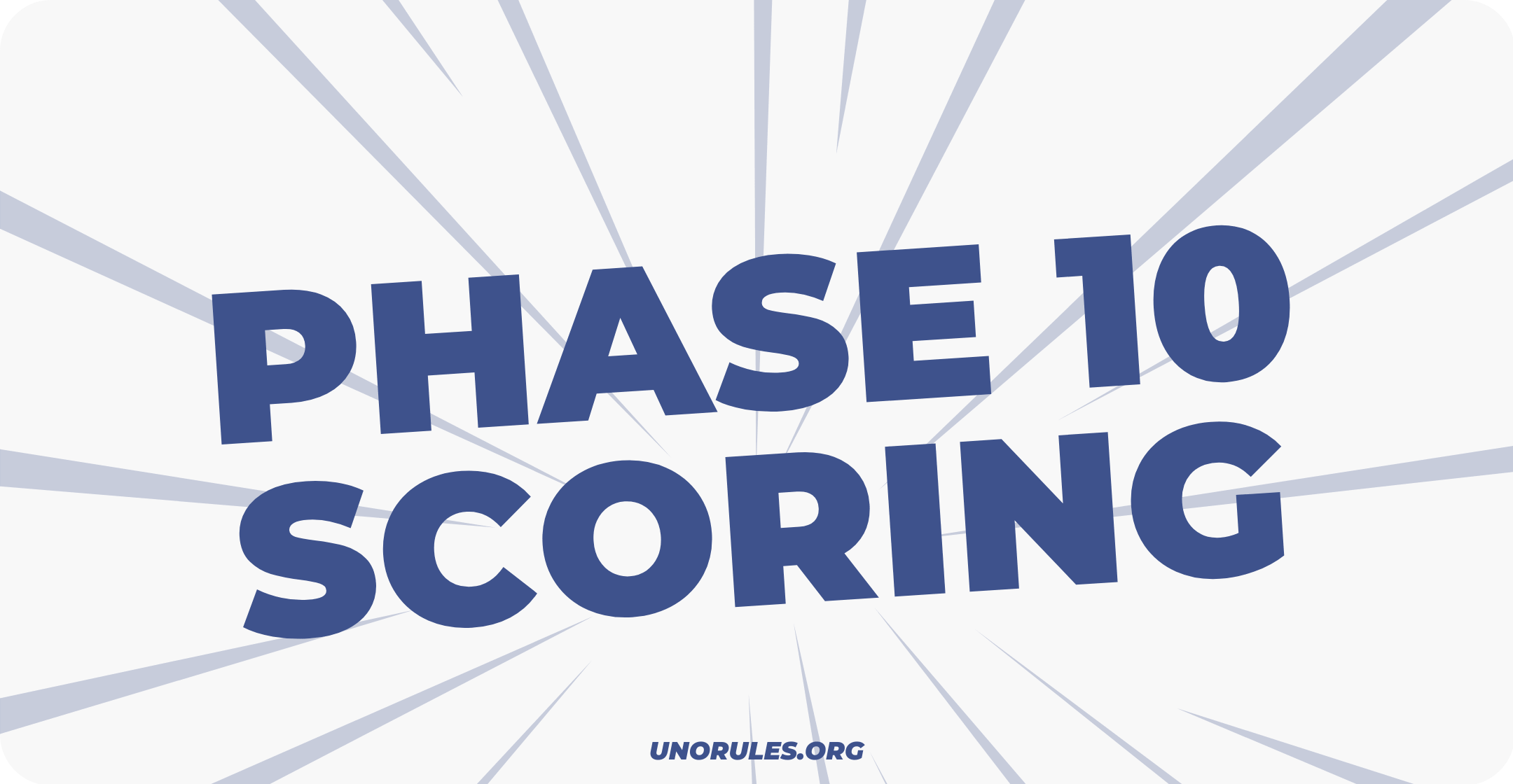 Step 3 – Phase 10 scoring