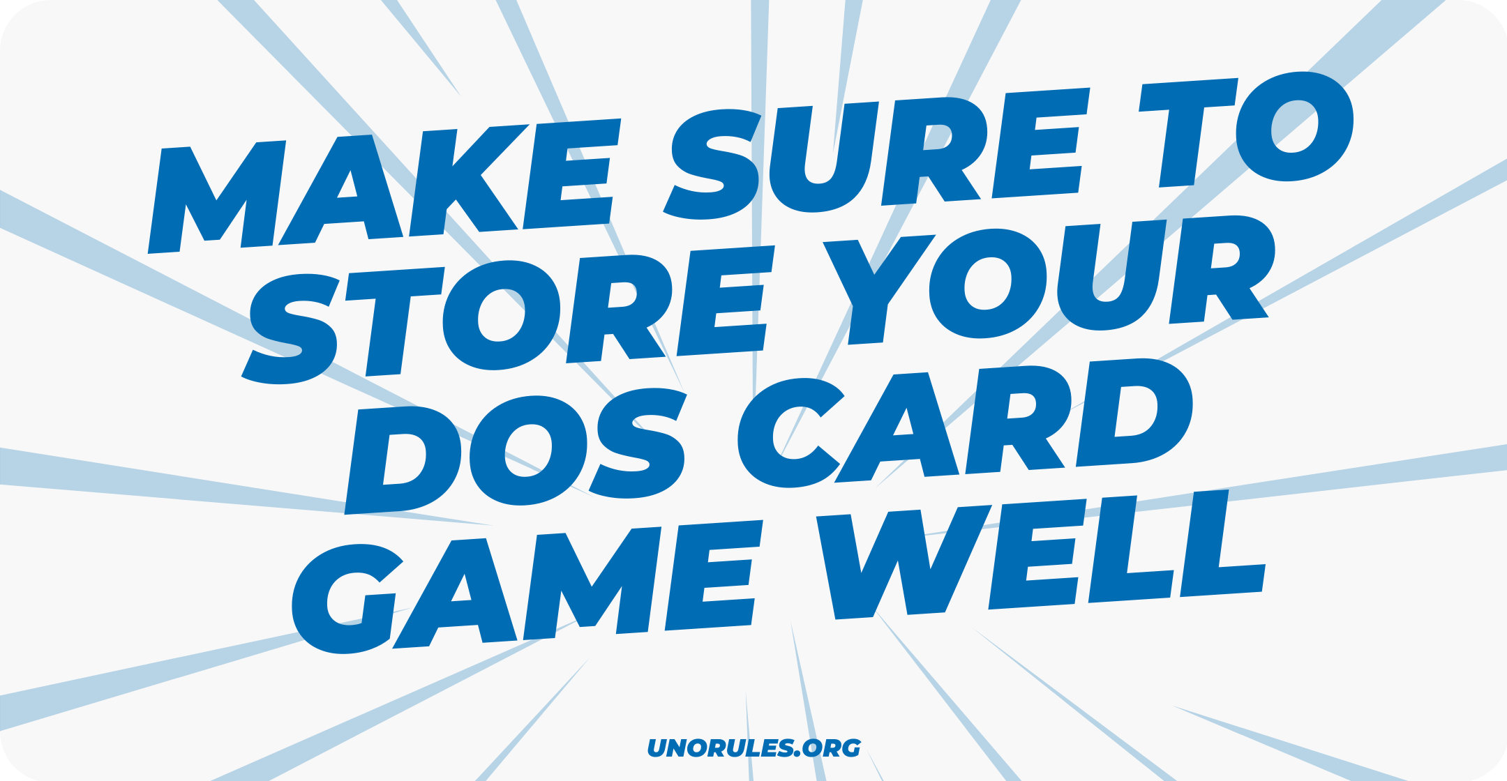 Storing your Dos card game well
