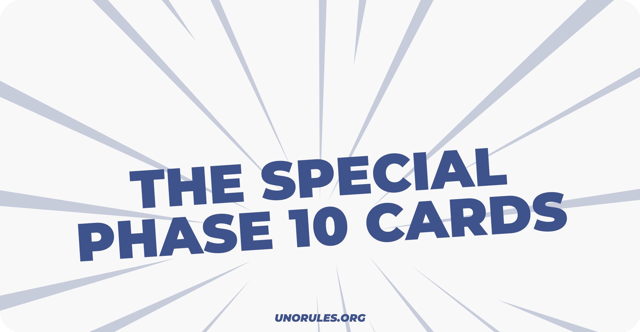 The special Phase 10 cards