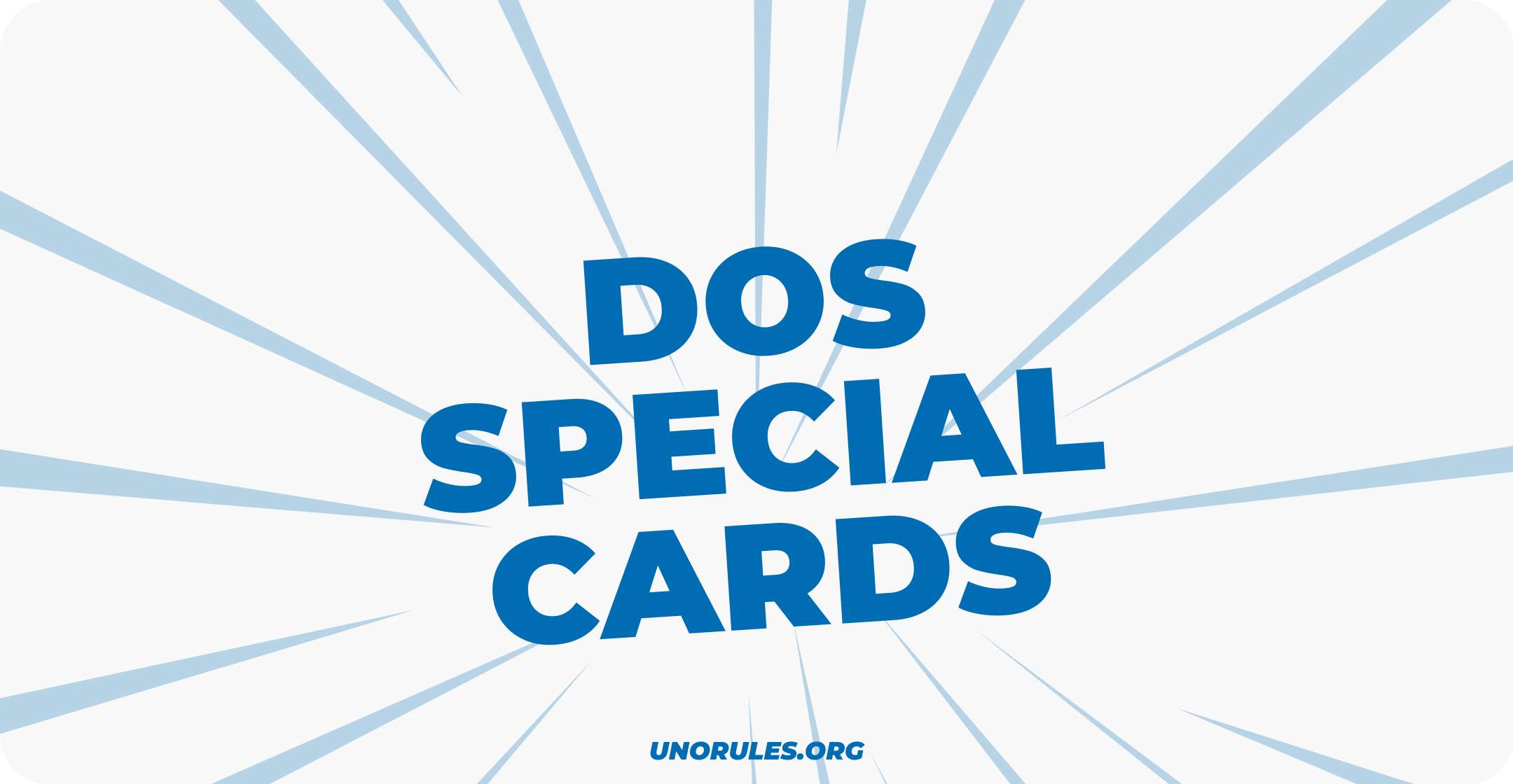 The special cards in Dos the card game