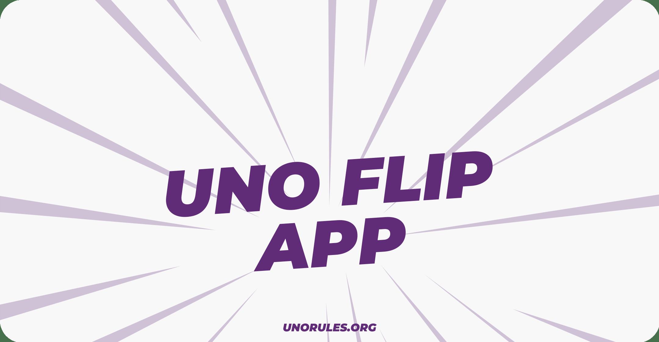 Uno Flip app