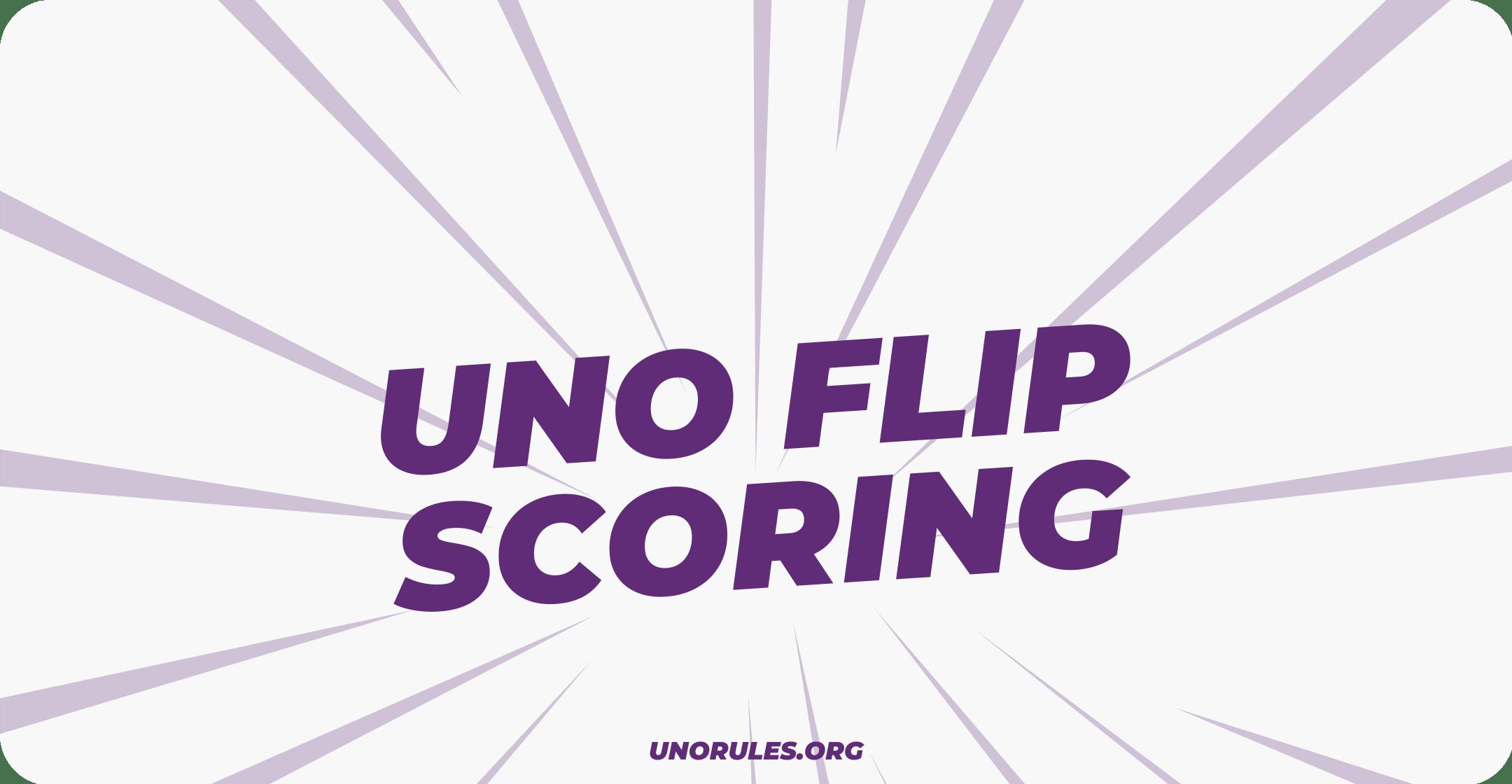 Uno Flip scoring