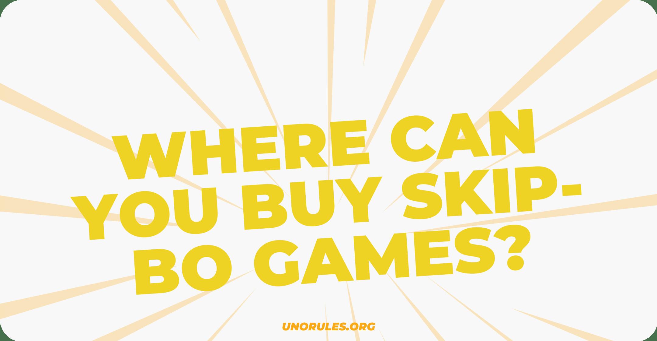 Where can you buy Skip-Bo games