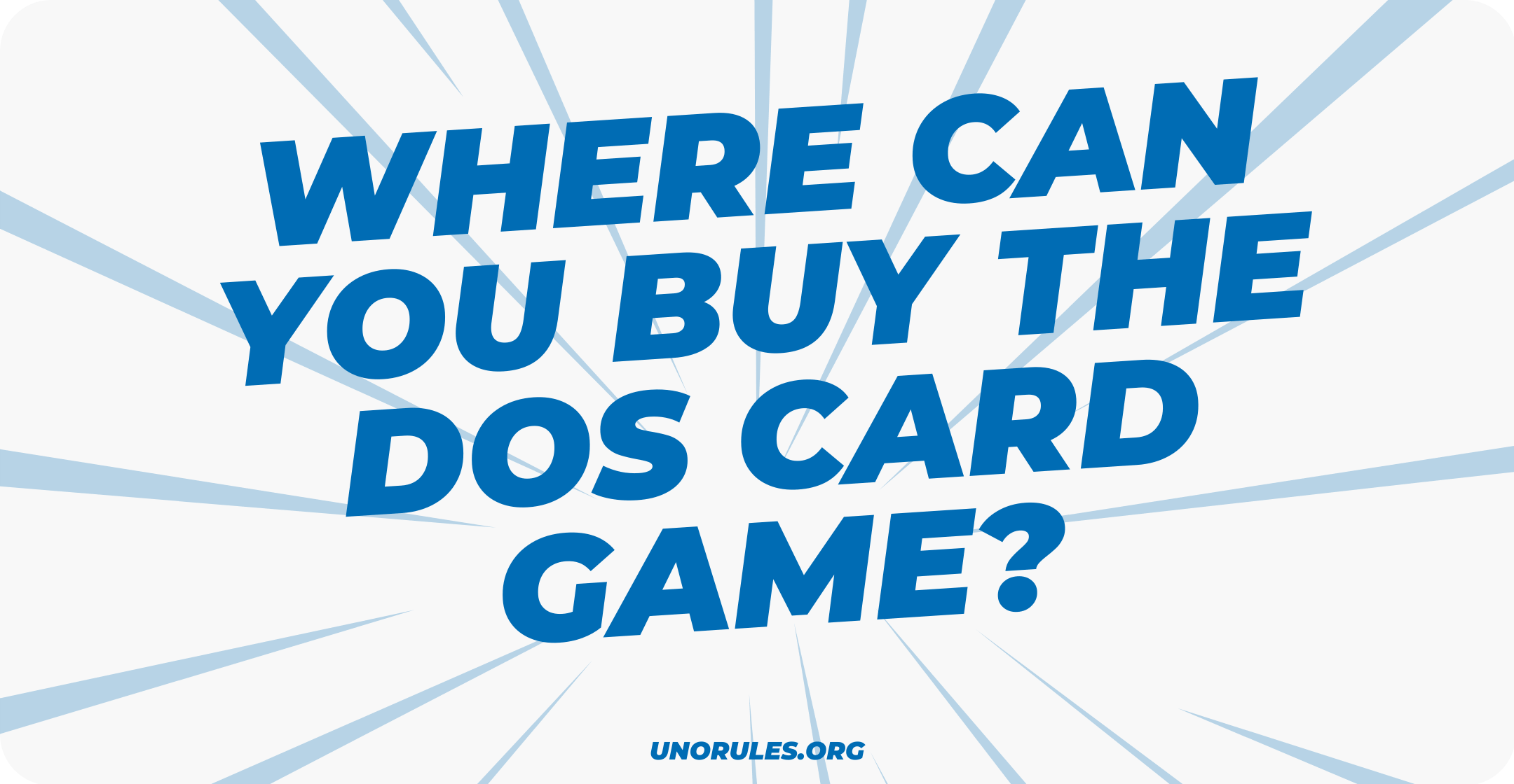 Where can you buy the Dos card game