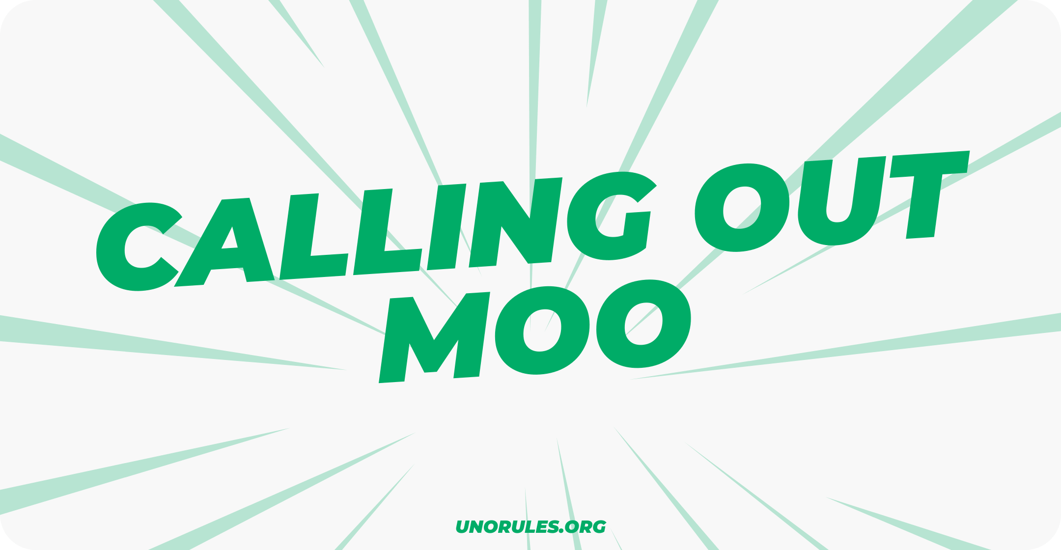 Calling out moo