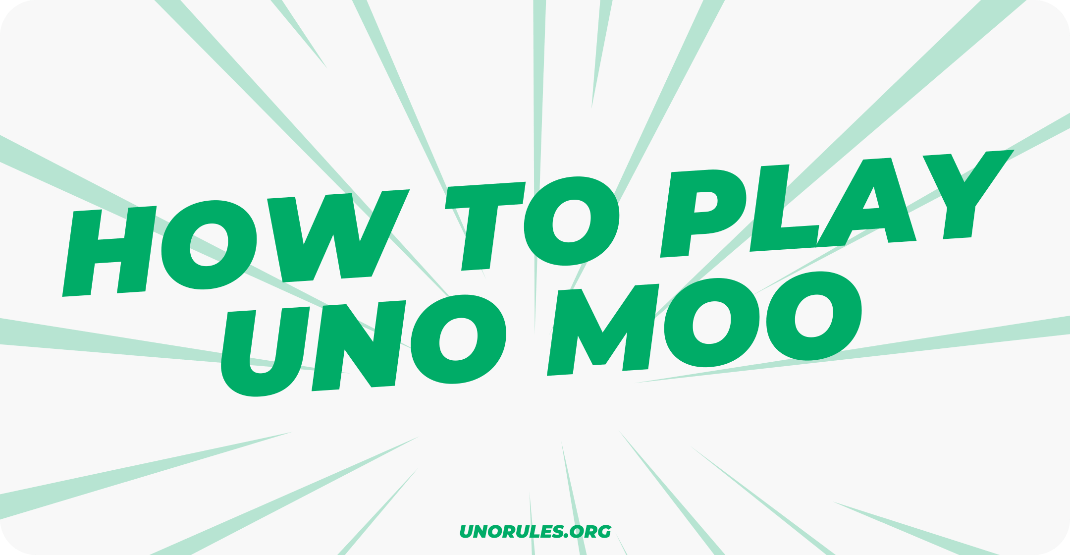 How to play uno moo