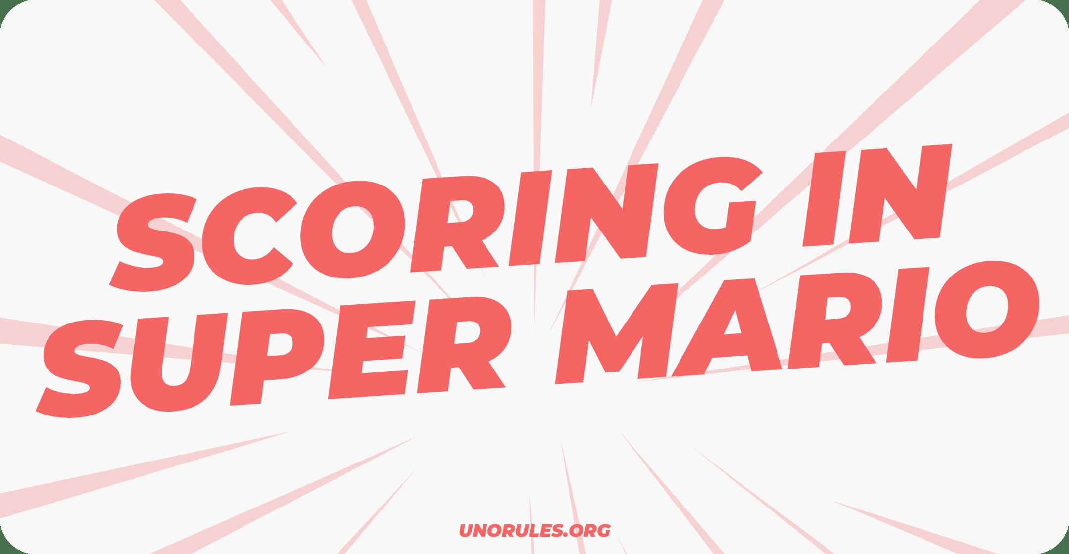 Scoring in Super Mario Uno