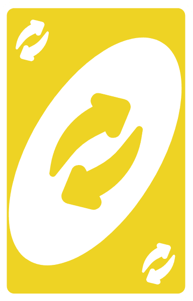 The Yellow Uno Reverse Card from Unorules.org