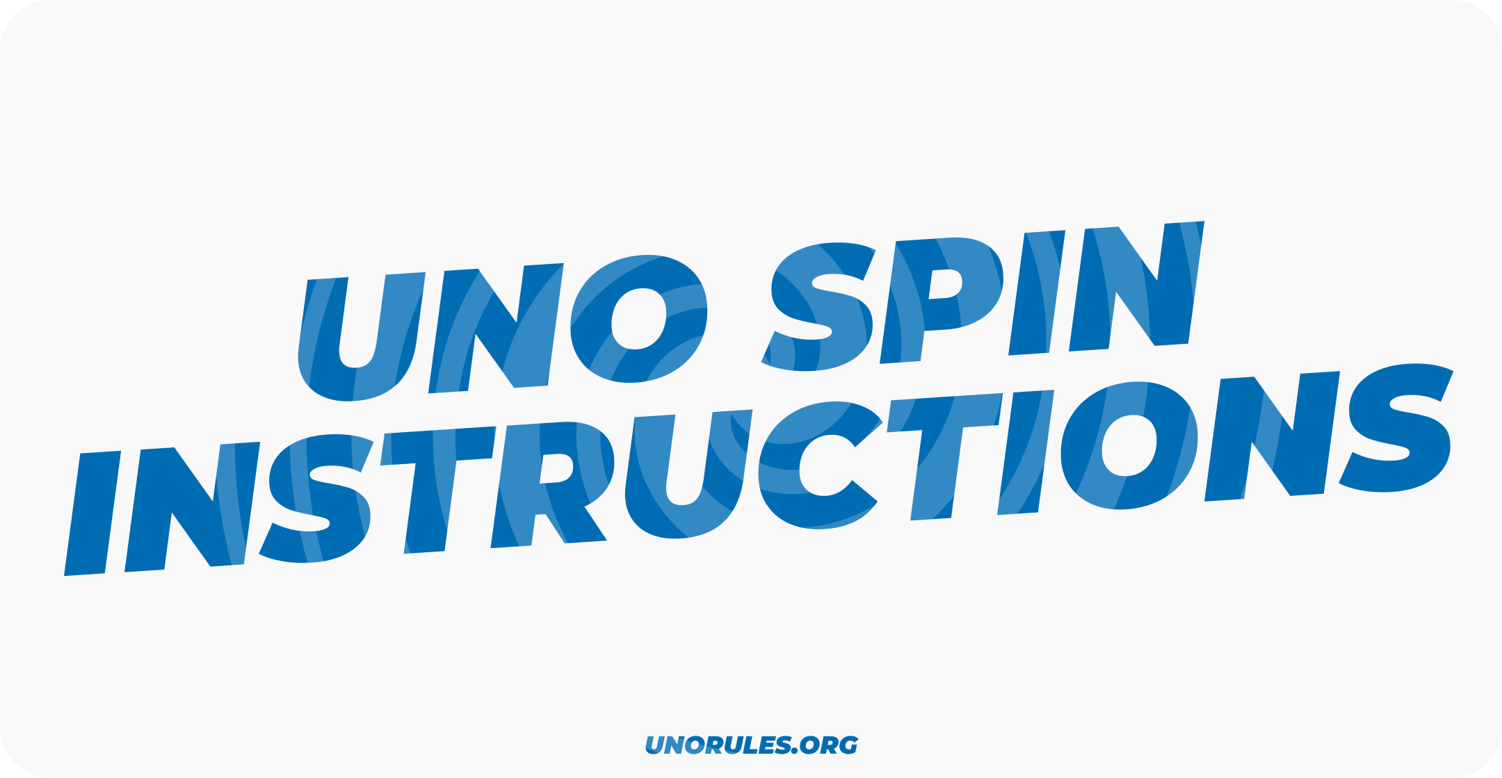 Uno Spin instructions