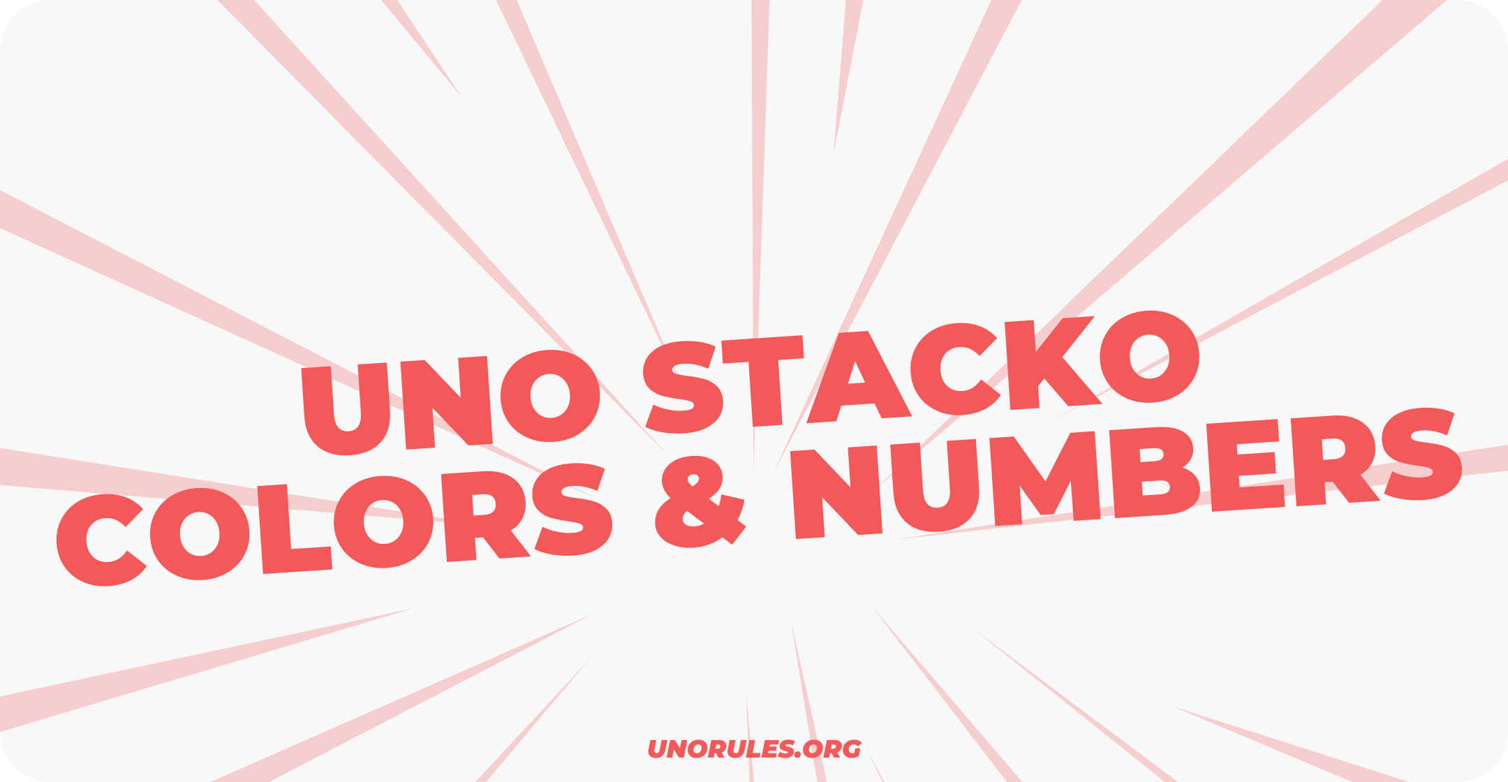 Uno Stacko colors and numbers