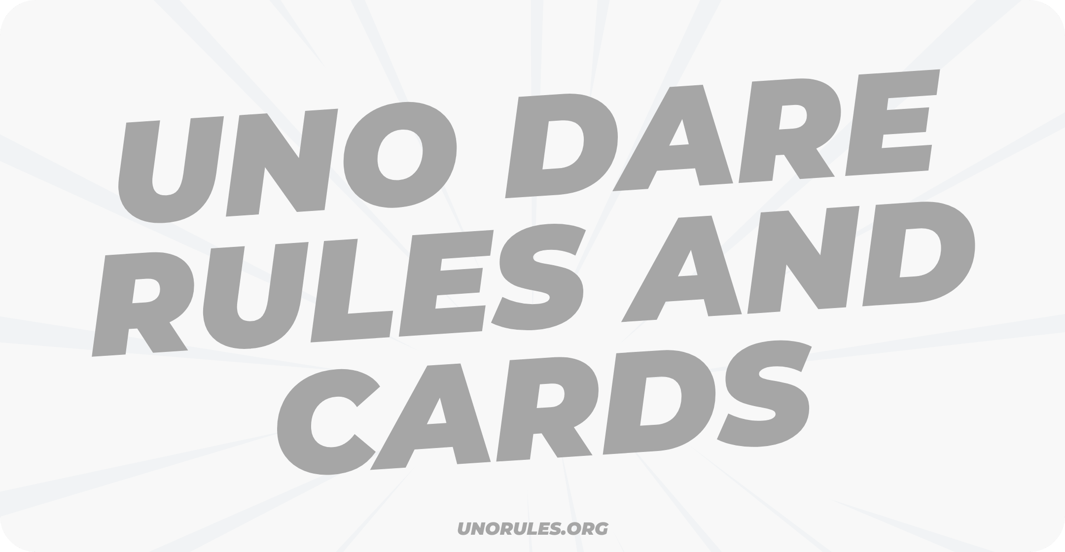 Uno dare rules and cards
