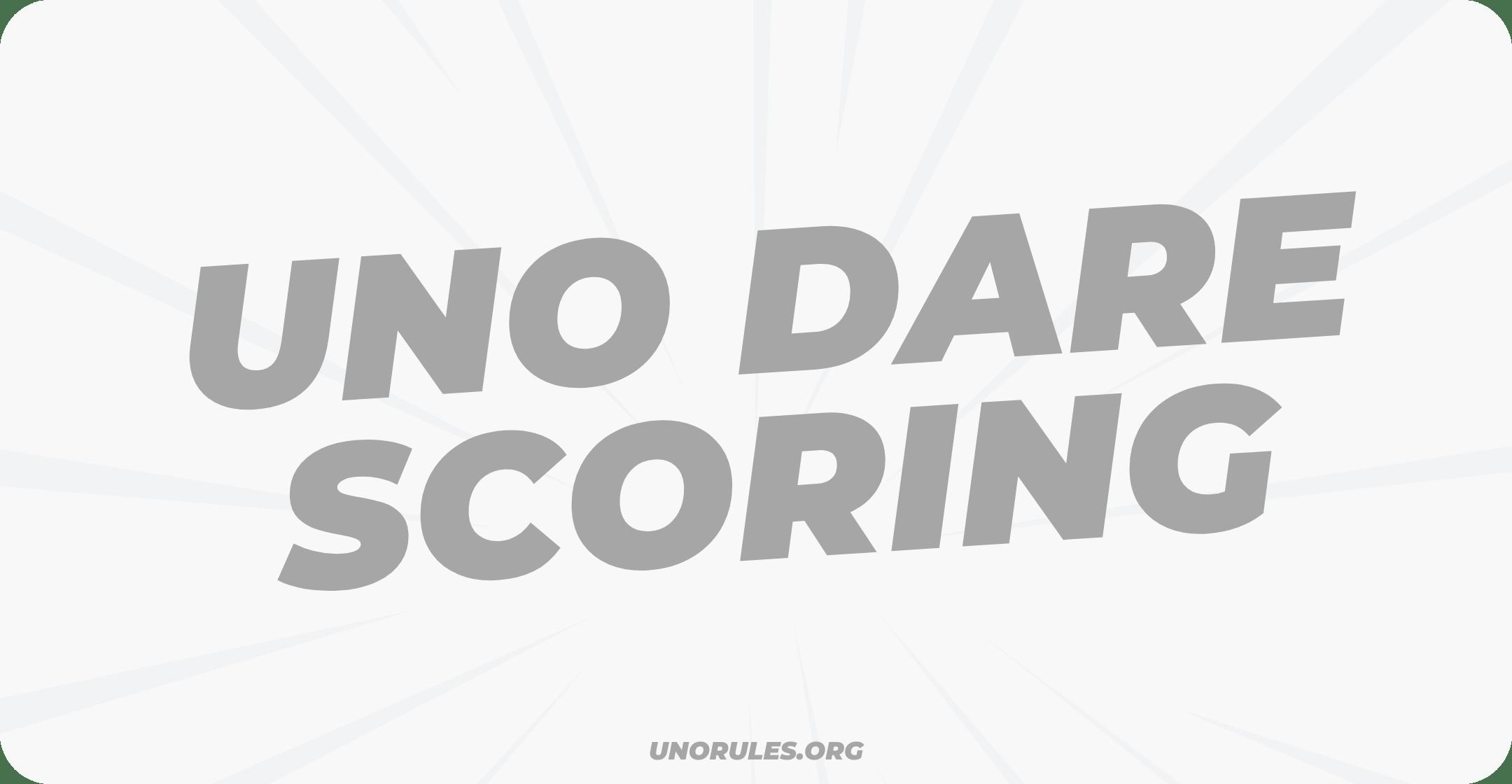 Uno dare scoring