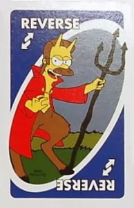 simpsons treehouse of horror uno reverse card Unorules.org