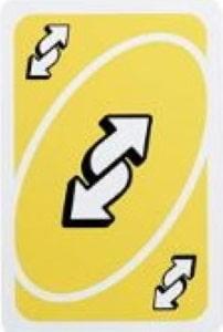 uno showdown reverse card Unorules.org
